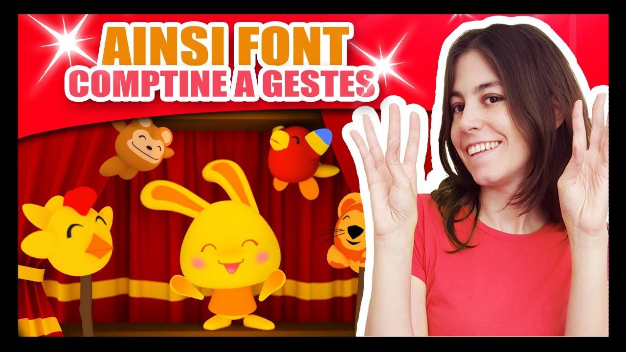 Ainsi Font Font Font Les Petites Marionnettes - Comptines À Gestes Méli Et  Touni - Titounis avec Les Petites Marionnettes Chanson
