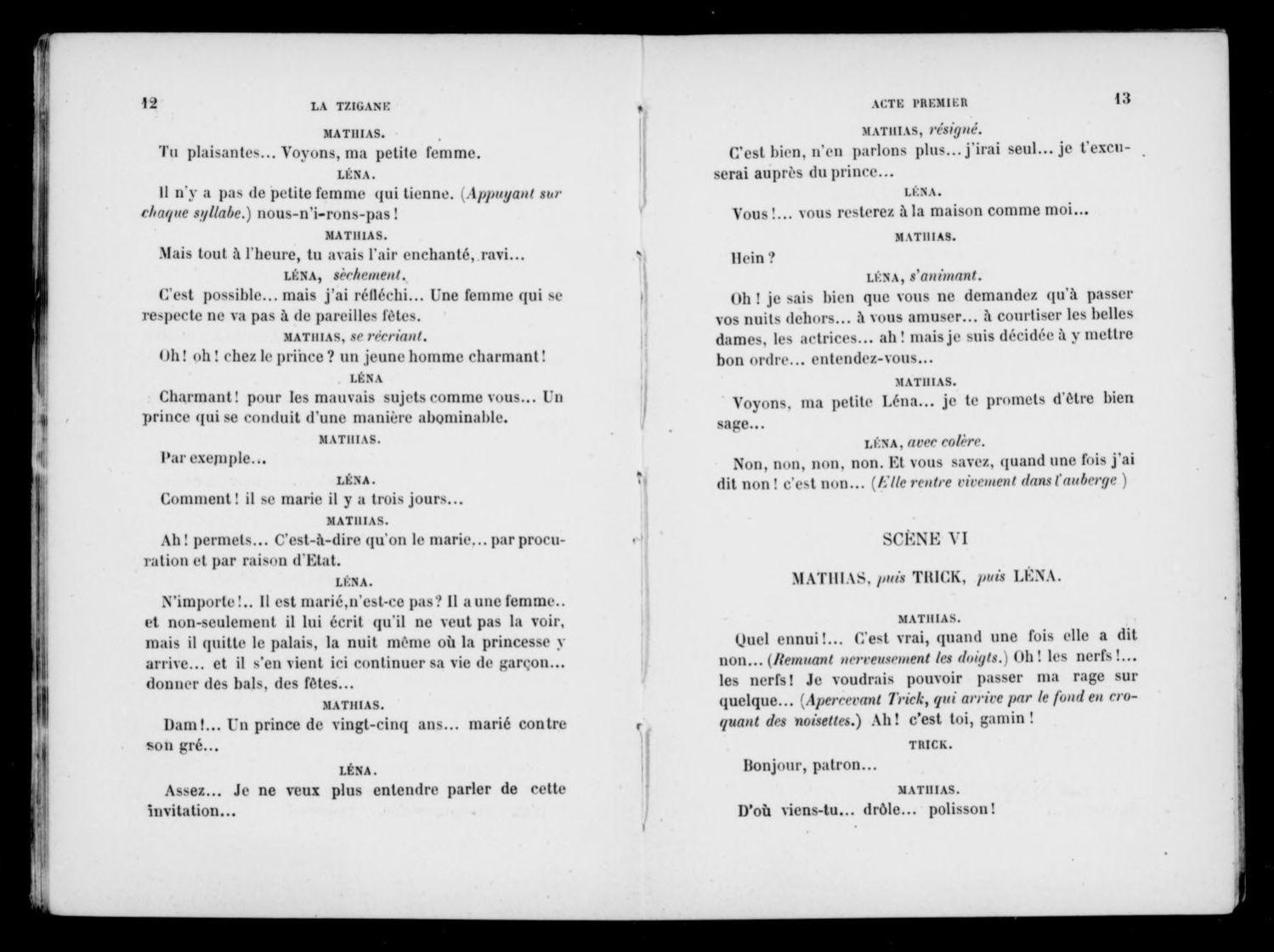 Albert Schatz Collection, Available Online, La Tzigane concernant Ah Les Cro