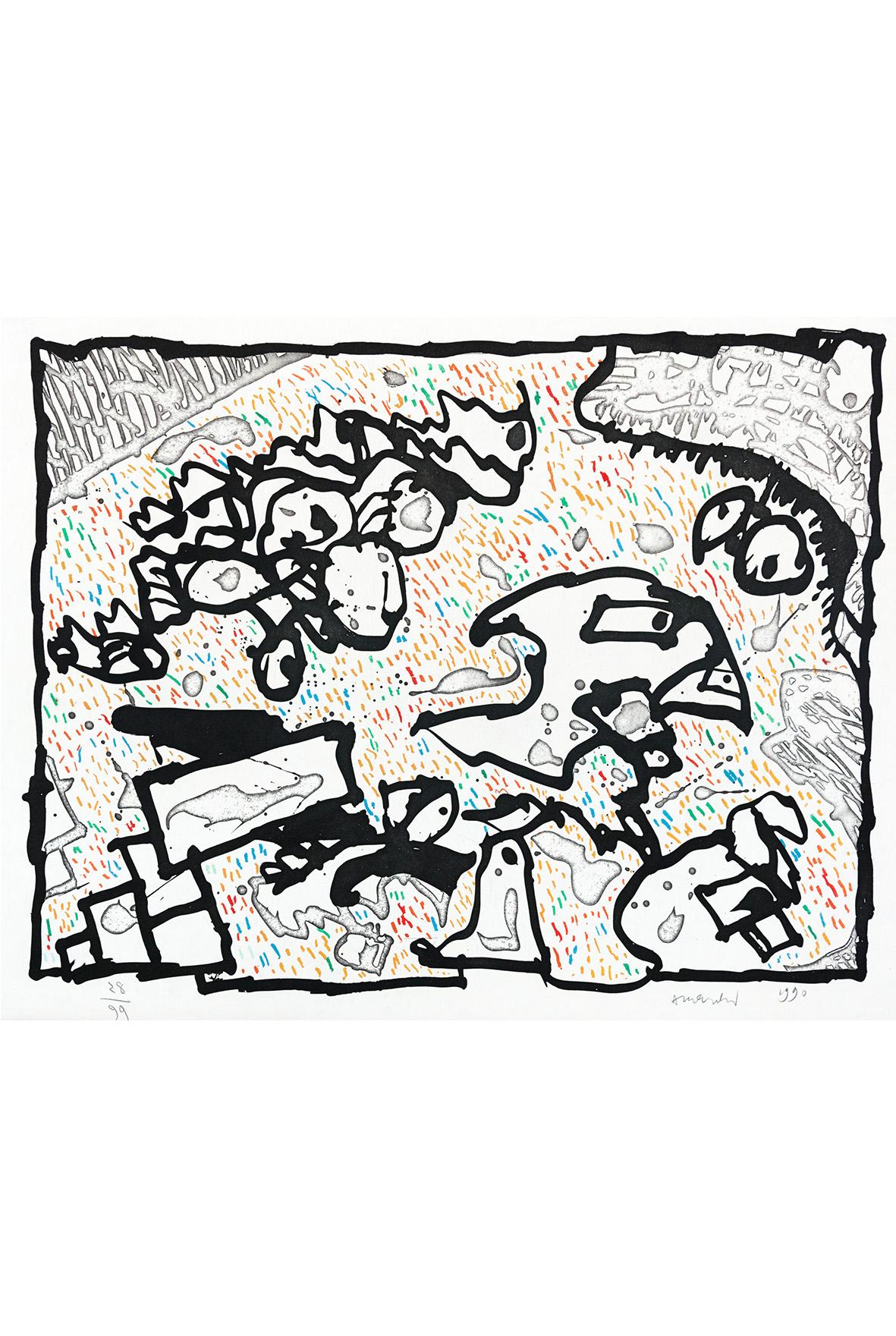 Alechinsky - Galerie Pome Turbil dedans Oeuvre Alechinsky
