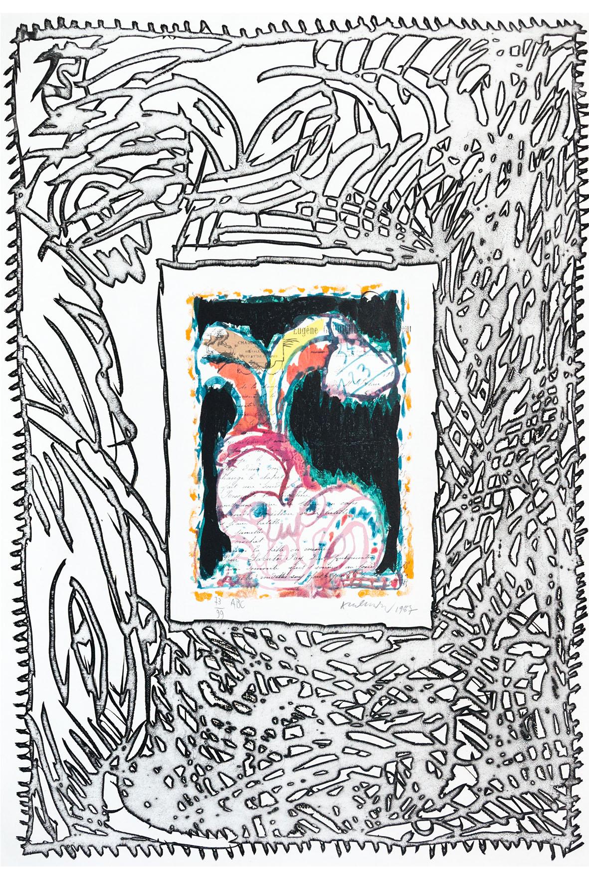 Alechinsky - Galerie Pome Turbil encequiconcerne Oeuvre Alechinsky