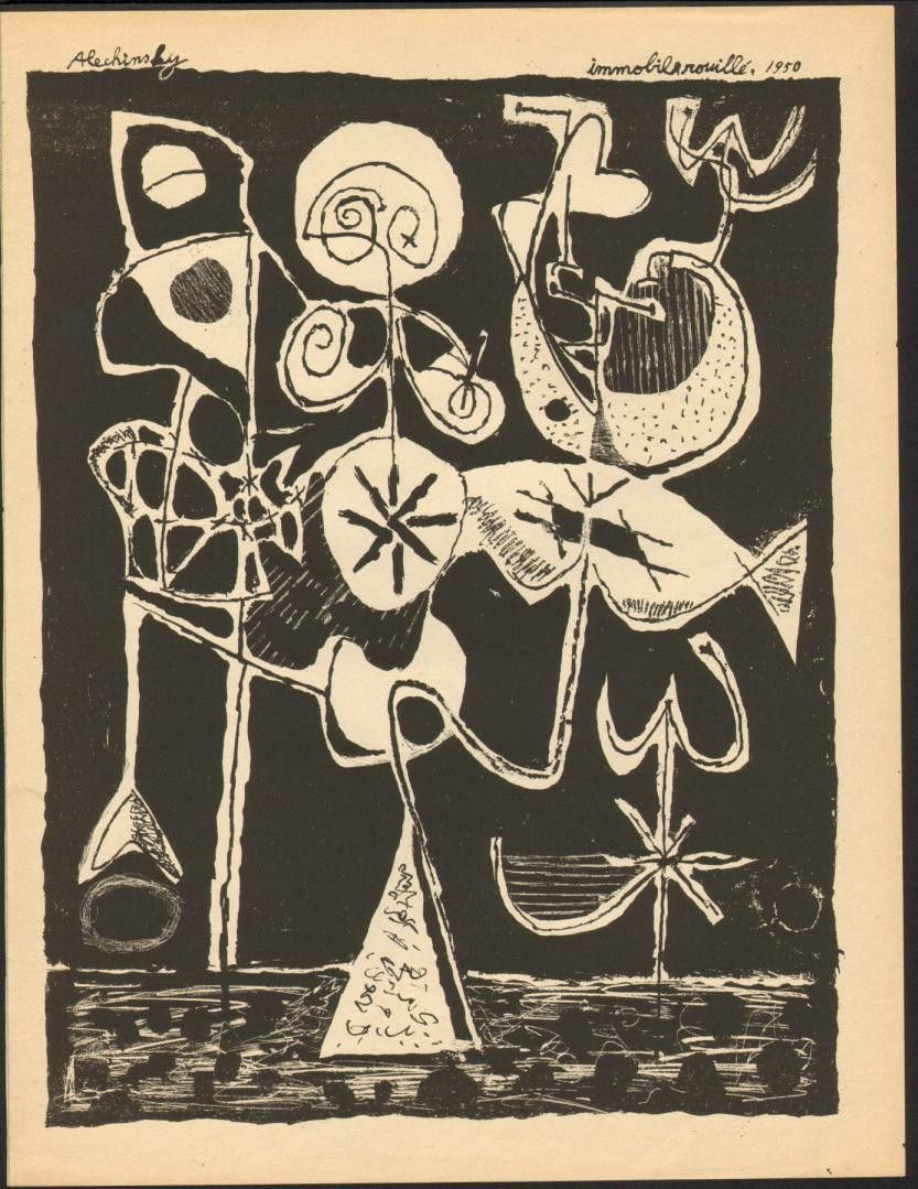 Alechinsky - Immobile Rouillé 1950 tout Oeuvre Alechinsky