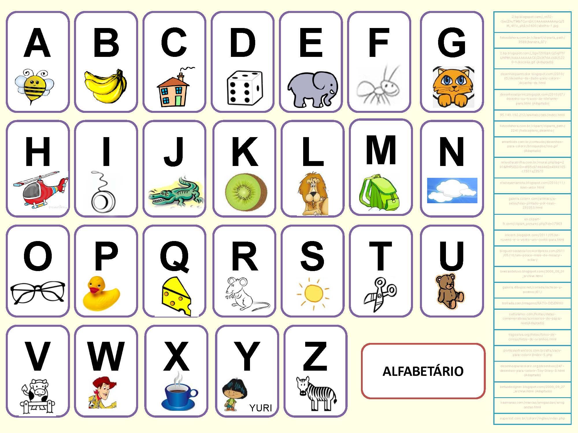 Alphabet Portugais En Images À Imprimer - Tests & Jeux à Jeux De Maternelle À Imprimer