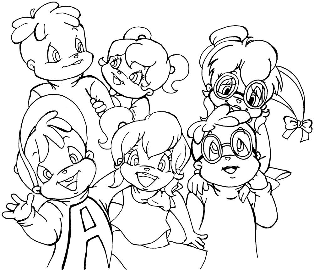 Alvin And The Chipmunks #118 (Animation Movies) – Printable à Dessin De Alvin Et Les Chipmunks
