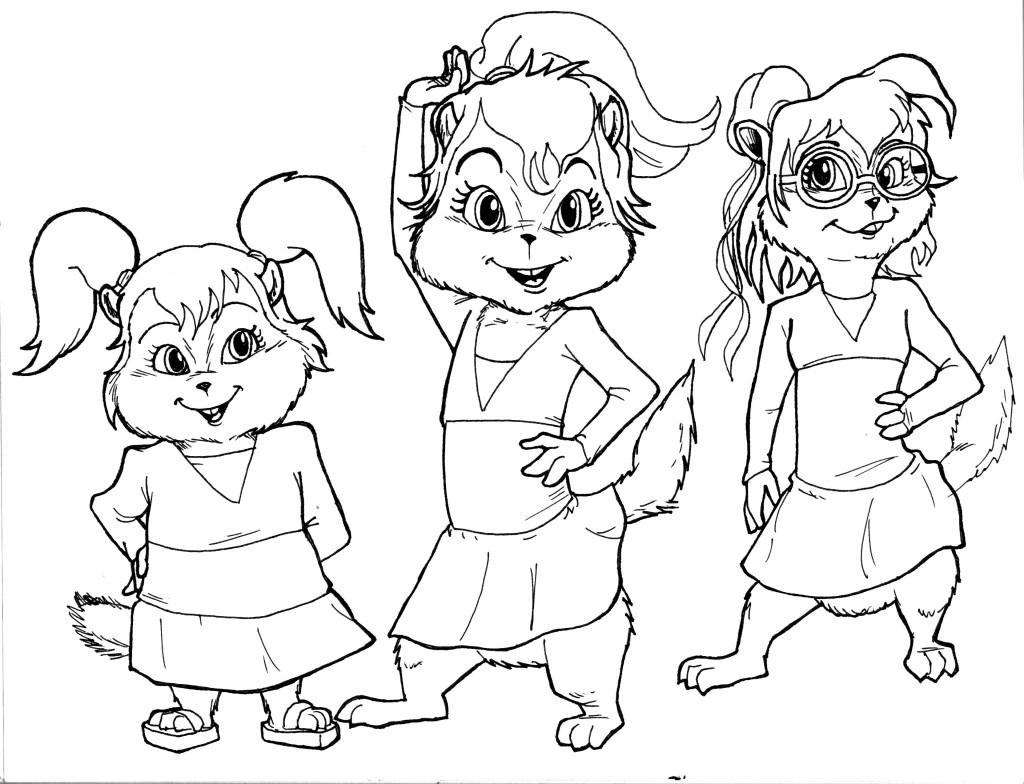 Alvin And The Chipmunks Coloring Pages At Getdrawings   Free encequiconcerne Dessin De Alvin Et Les Chipmunks