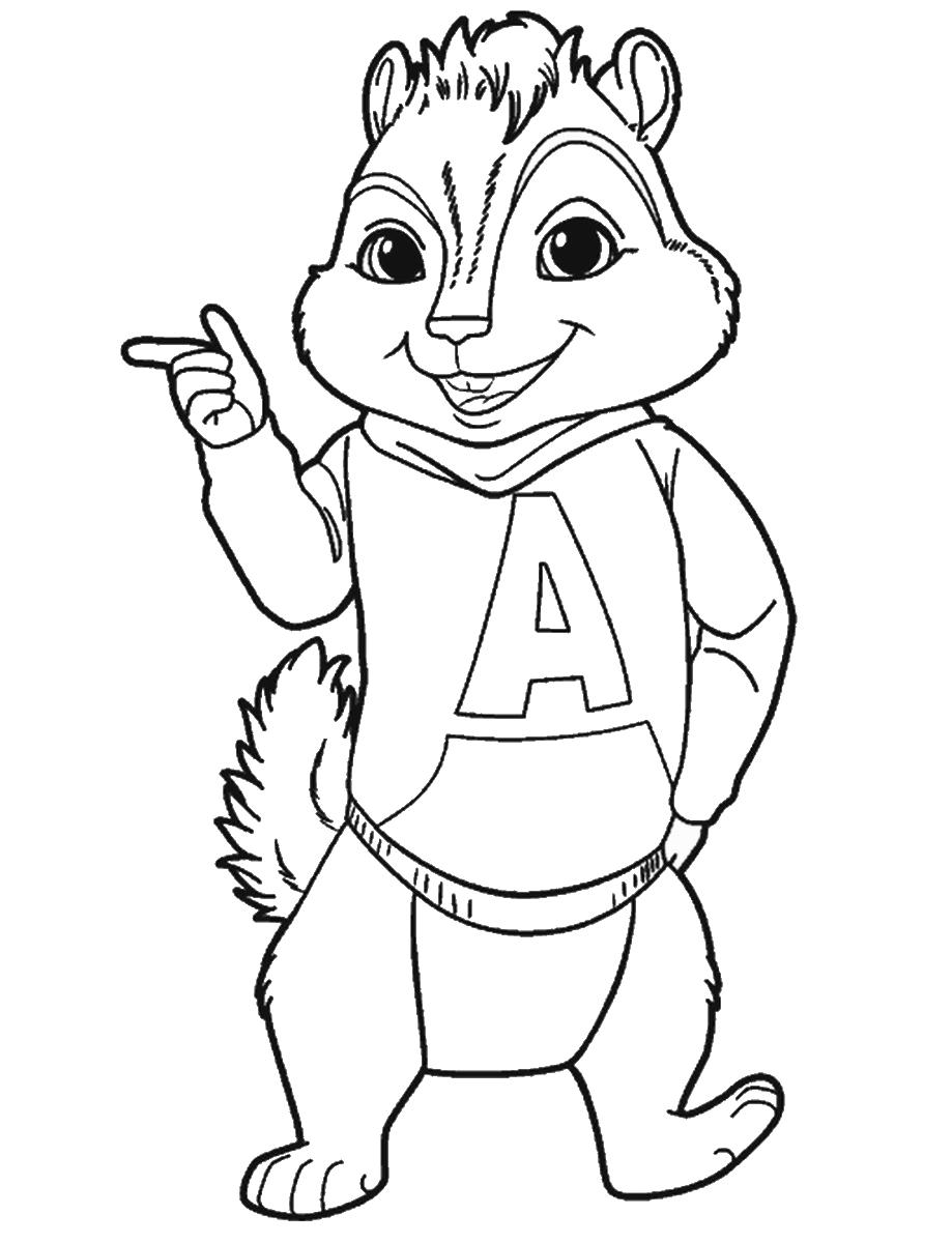 Alvin Et Les Chipmunks #137 (Films D'animation) – Coloriages avec Dessin De Alvin Et Les Chipmunks