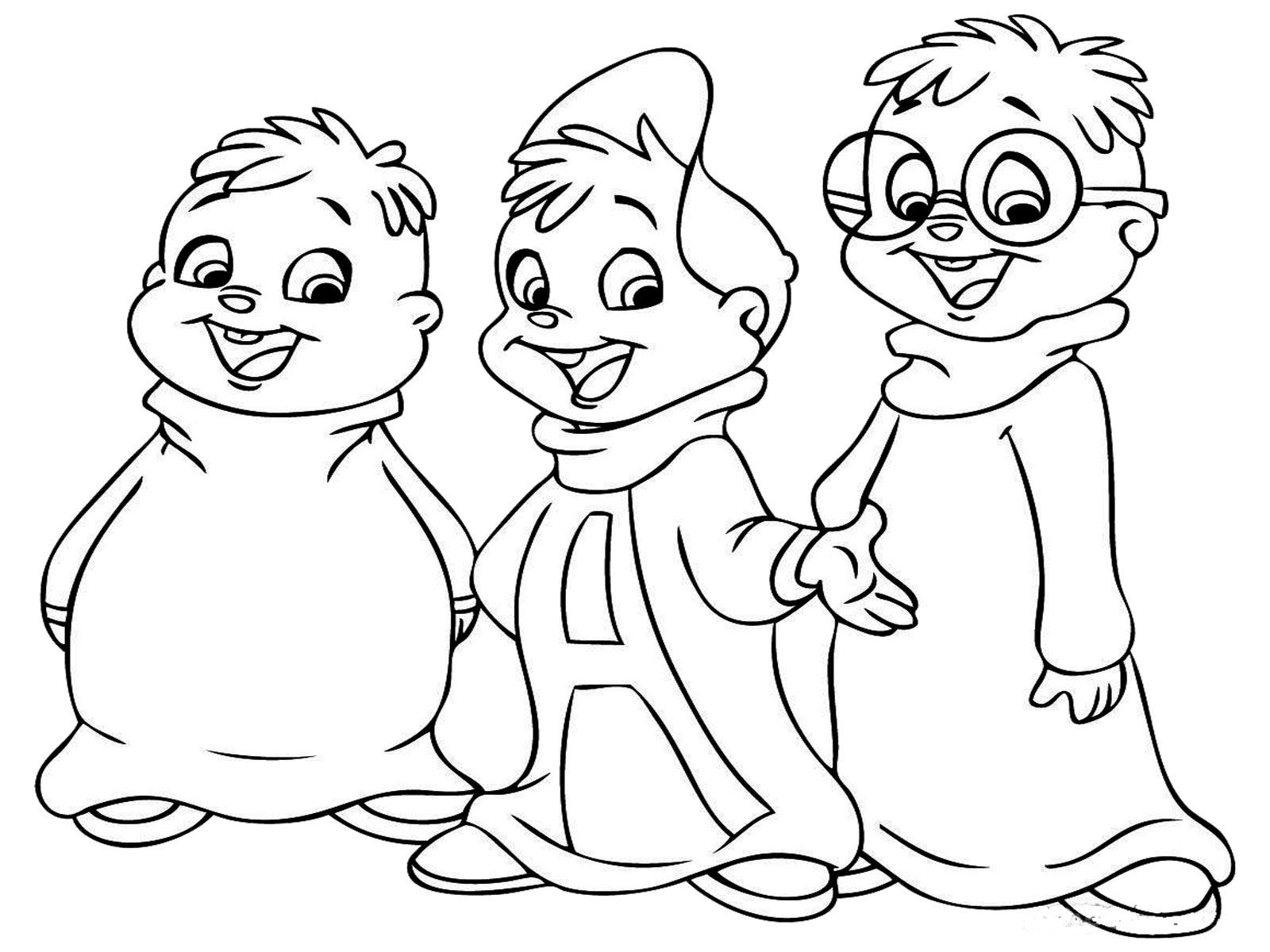 Alvin Et Les Chipmunks #58 (Films D'animation) – Coloriages encequiconcerne Dessin De Alvin Et Les Chipmunks