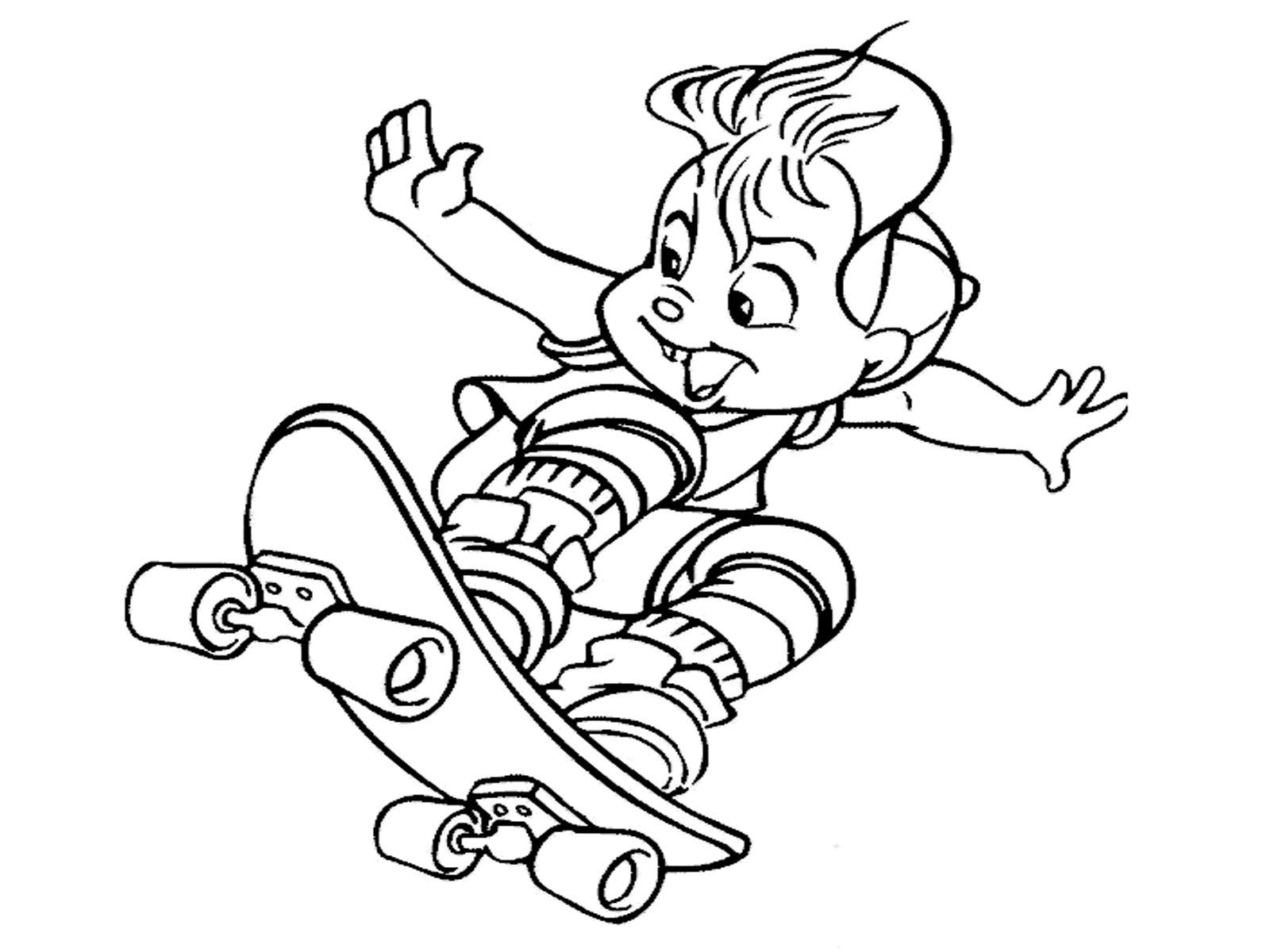 Alvin Et Les Chipmunks #72 (Films D'animation) – Coloriages concernant Dessin De Alvin Et Les Chipmunks