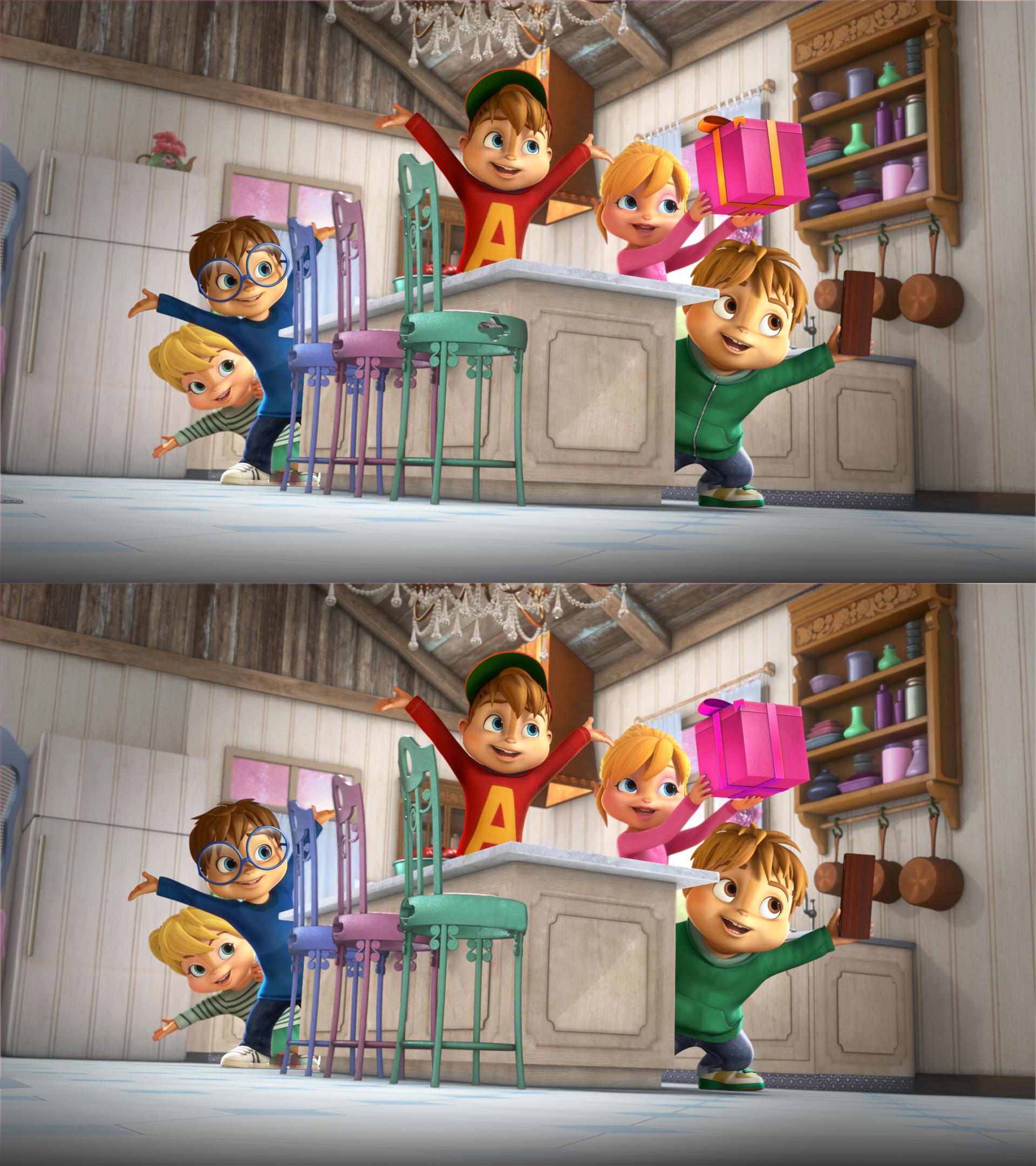 Alvinnn!!! Et Les Chipmunks - Ouftivi dedans Jeux De Différence