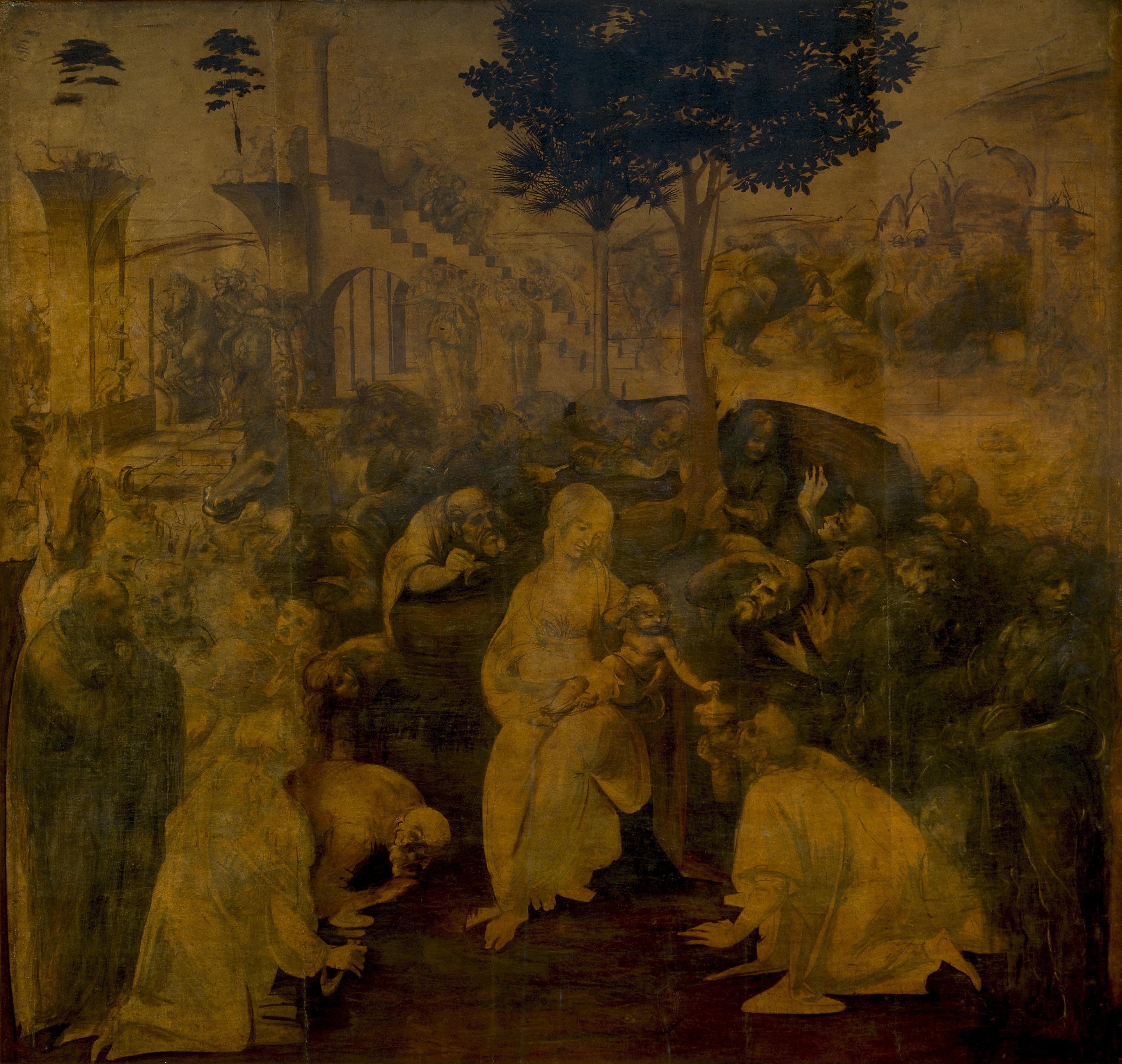 Anbetung Der Könige Aus Dem Morgenland (Leonardo Da Vinci intérieur 3 Roi Mage