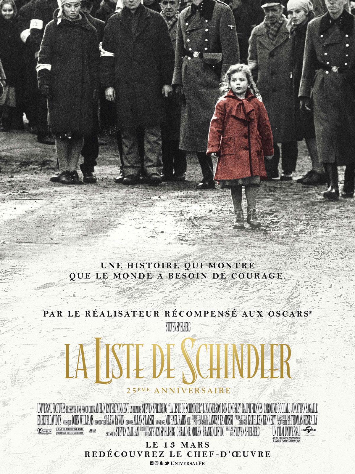 Anecdotes Du Film La Liste De Schindler - Allociné à Chanson Dans Son Manteau Rouge Et Blanc