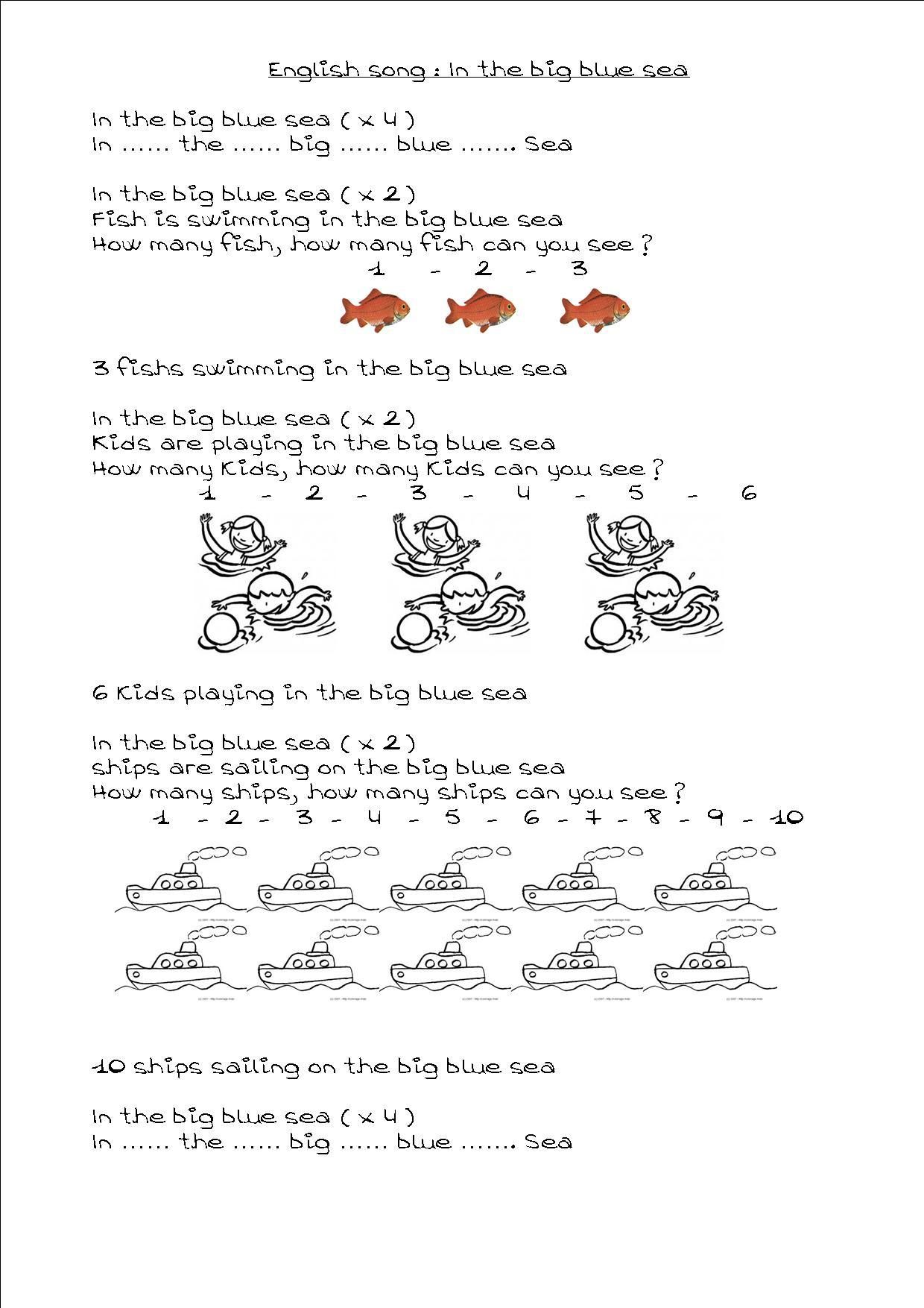 Anglais : 2 Chansons Pour Apprendre Les Nombres De 1 À 10 destiné Chanson Pour Les Animaux