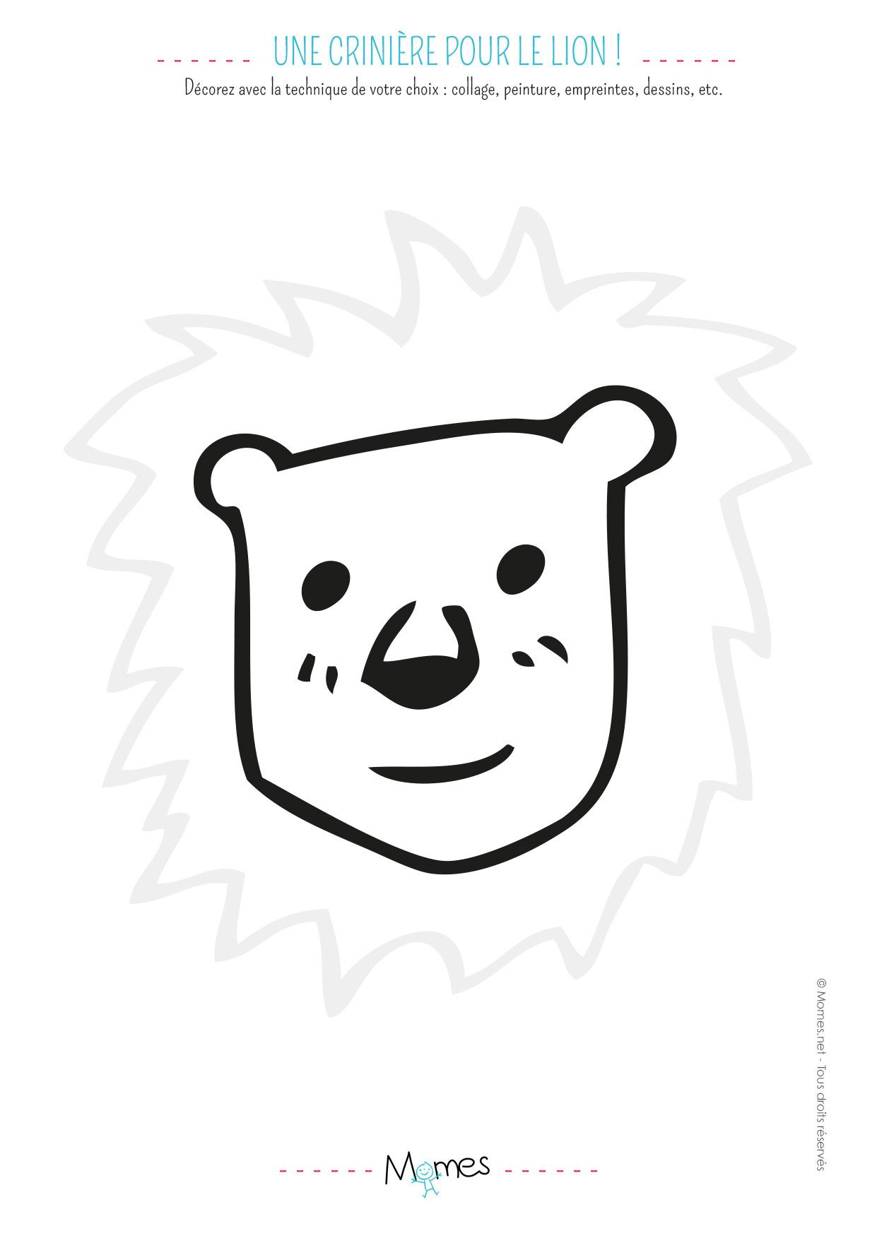 Animaux À Décorer - Momes avec Découpage Collage Maternelle À Imprimer