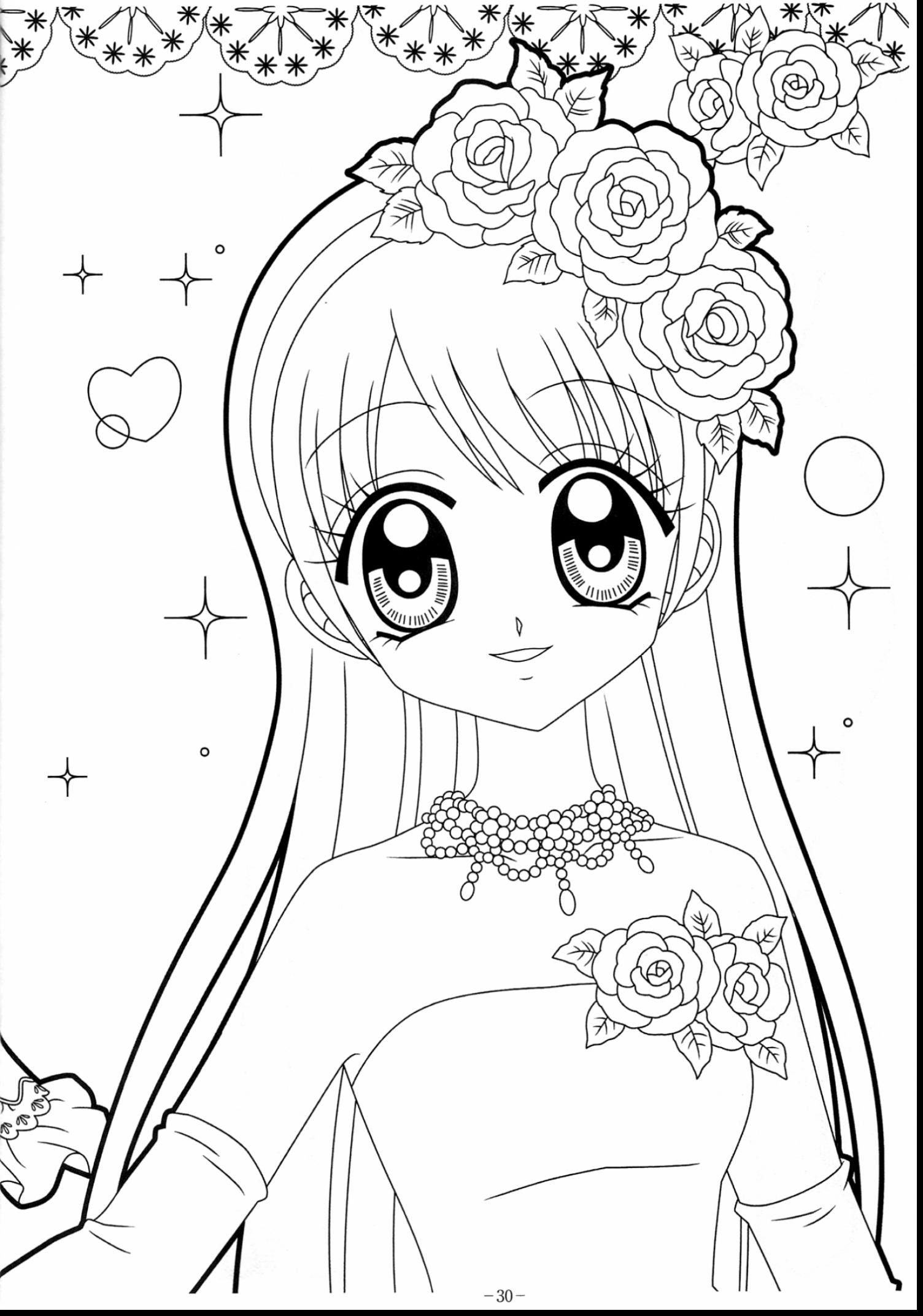 Anime Kawaii Coloring Pages pour Coloriage Manga Kawaii
