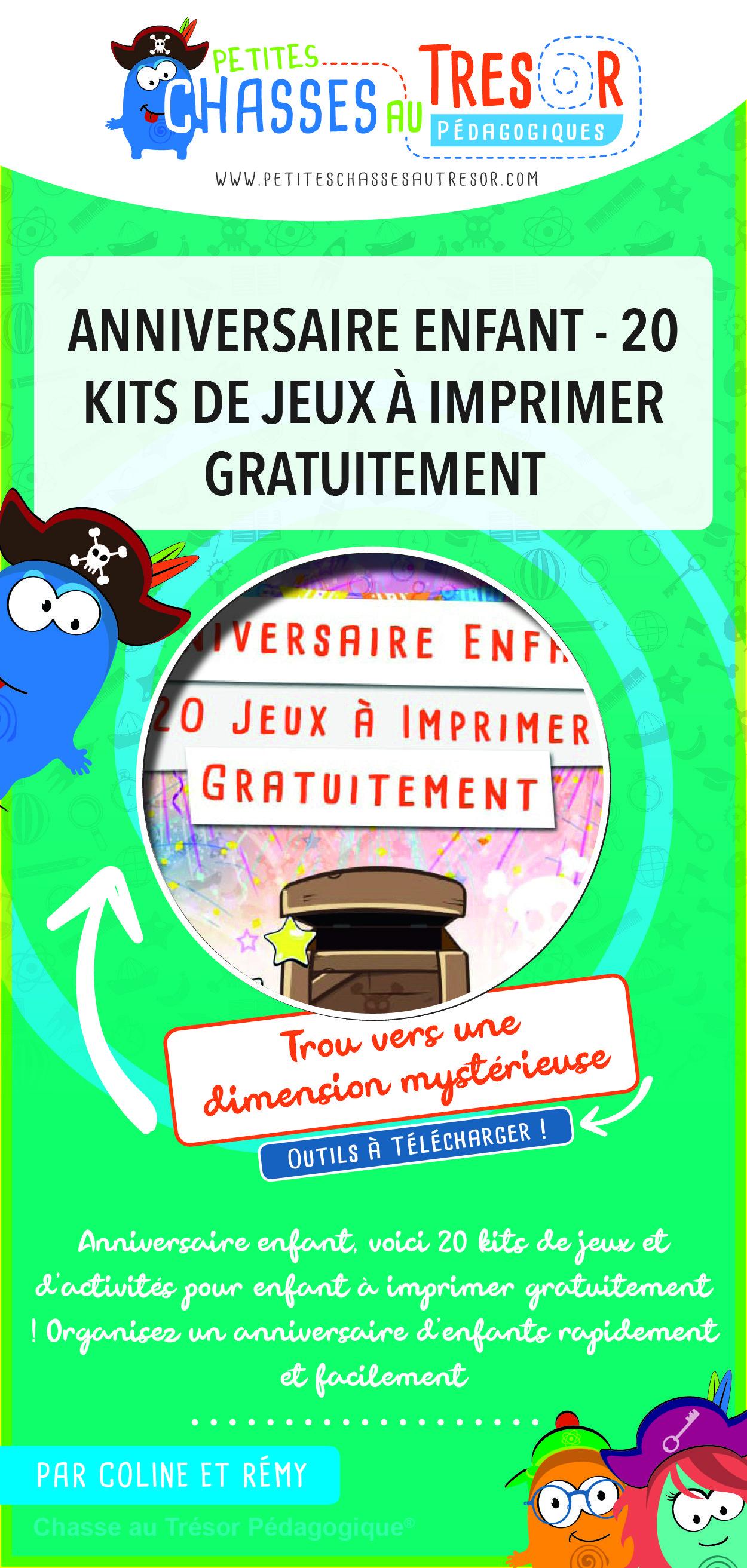 Anniversaire Enfant - 20 Kits De Jeux À Imprimer intérieur Jeux Enfant 3 Ans Gratuit