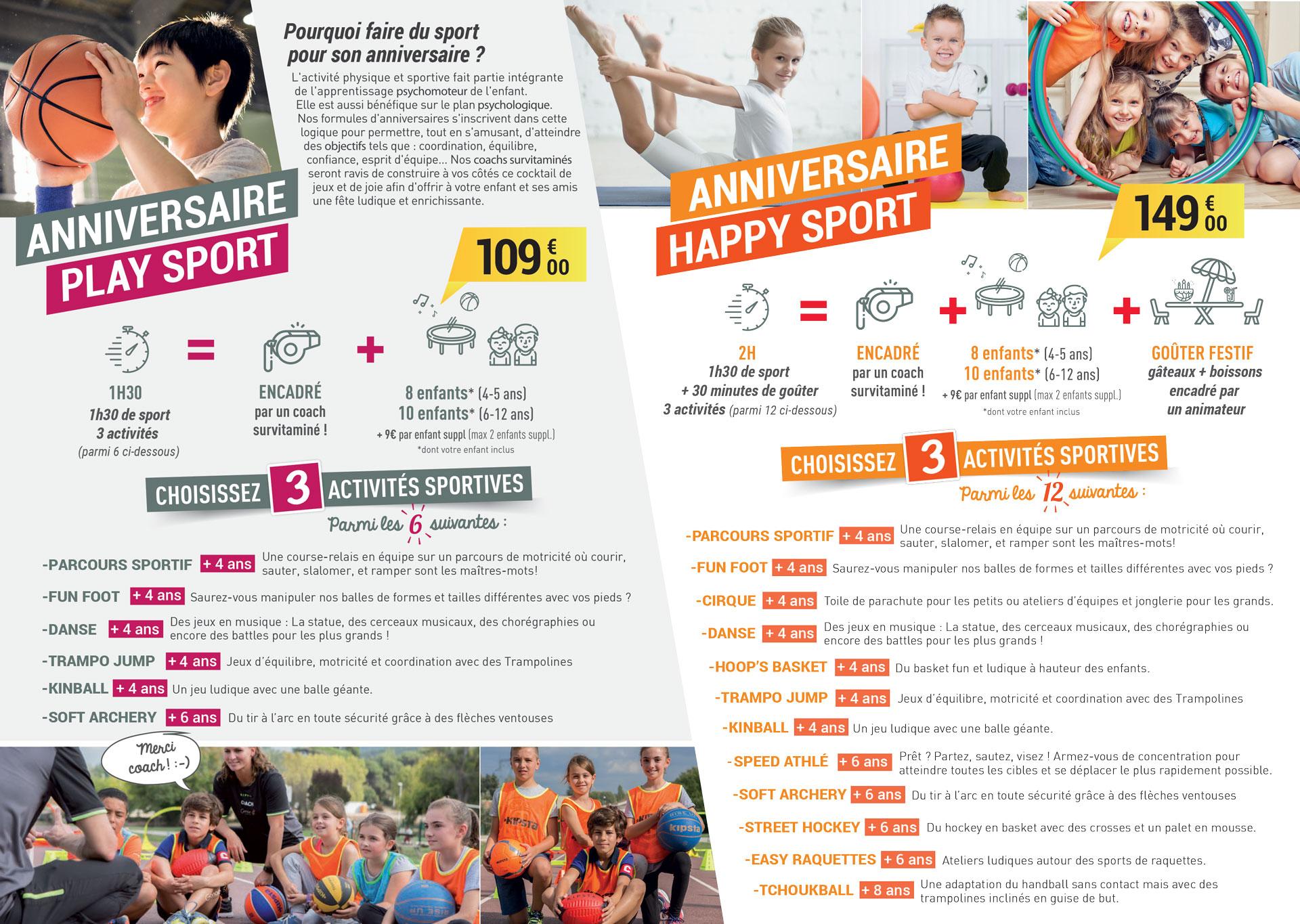 Anniversaire Sportif ! - Genae Bouc Bel Air - Le Sport serapportantà Jeux Sportifs 6 12 Ans