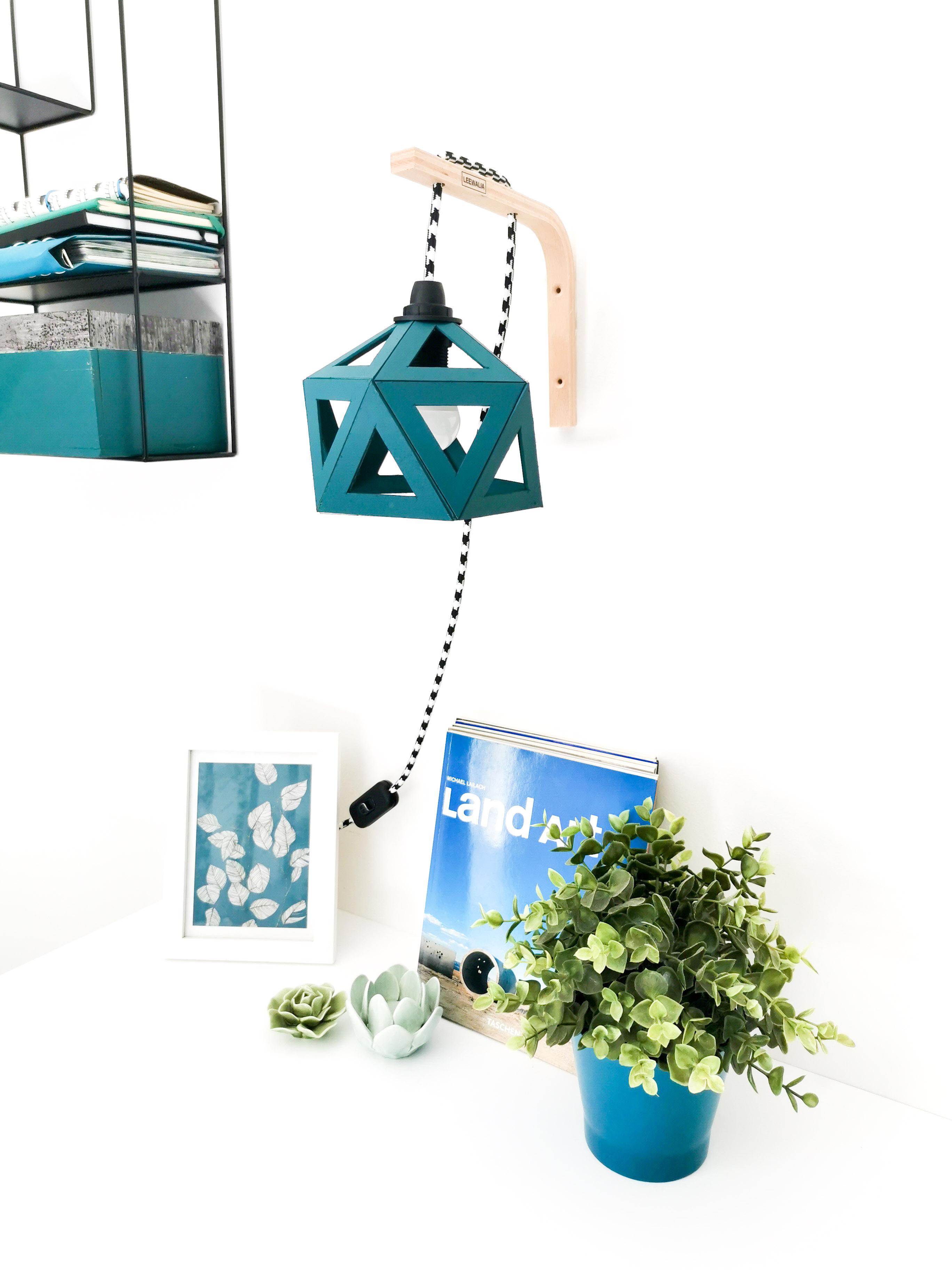 Applique Murale Origami Bleu Canard - Leewalia - Mon Petit Plus tout Origami Canard