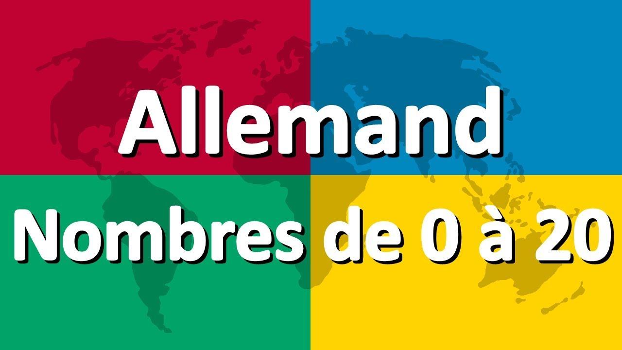 Apprendre L'allemand Partie 4 | Nombres De 0 À 20 dedans Nombre En Espagnol De 1 A 1000