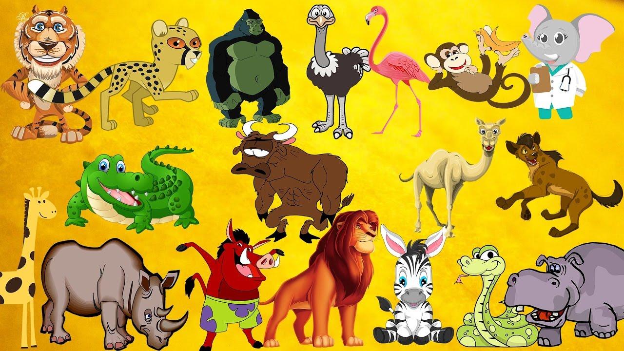 Apprendre Les Animaux Sauvages D'afrique Et Leurs Cris Aux Enfants En  Français à Animaux Sauvages De L Afrique
