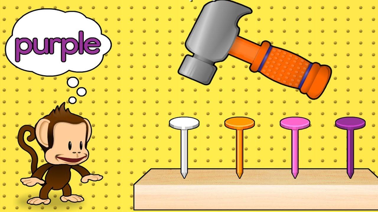 Apprendre Les Couleurs, Les Formes, Les Nombres - Jeu De Bébé Éducatif -  Monkey Preschool Fix It intérieur Jeux Pour Apprendre Les Couleurs