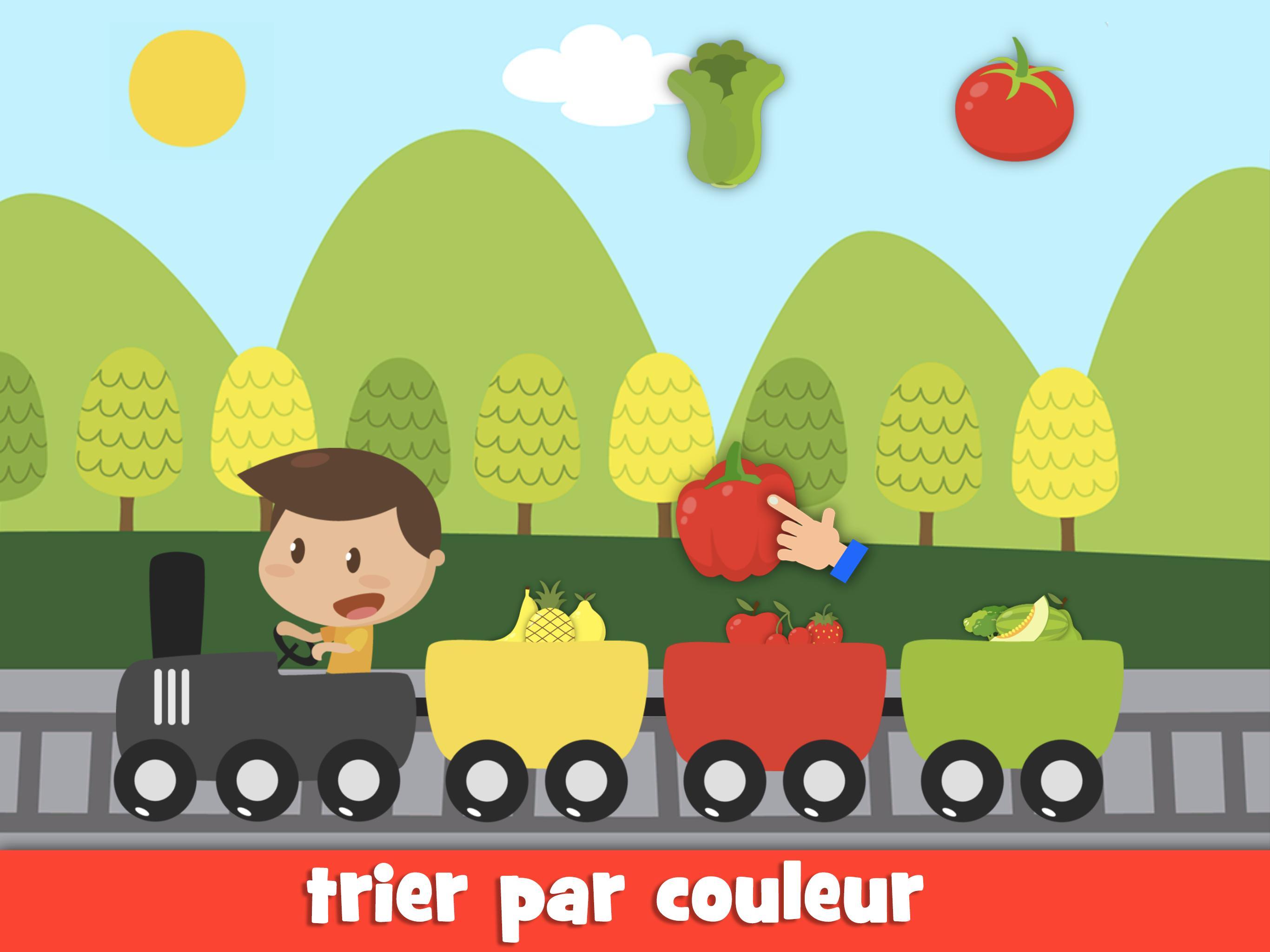 Apprendre Les Fruits Et Légumes Jeux Pour Enfants Pour avec Jeux Pour Apprendre Les Couleurs