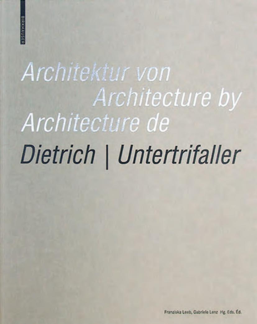 Architektur Von Dietrich | Untertrifaller / Architecture By dedans Police Script Ecole