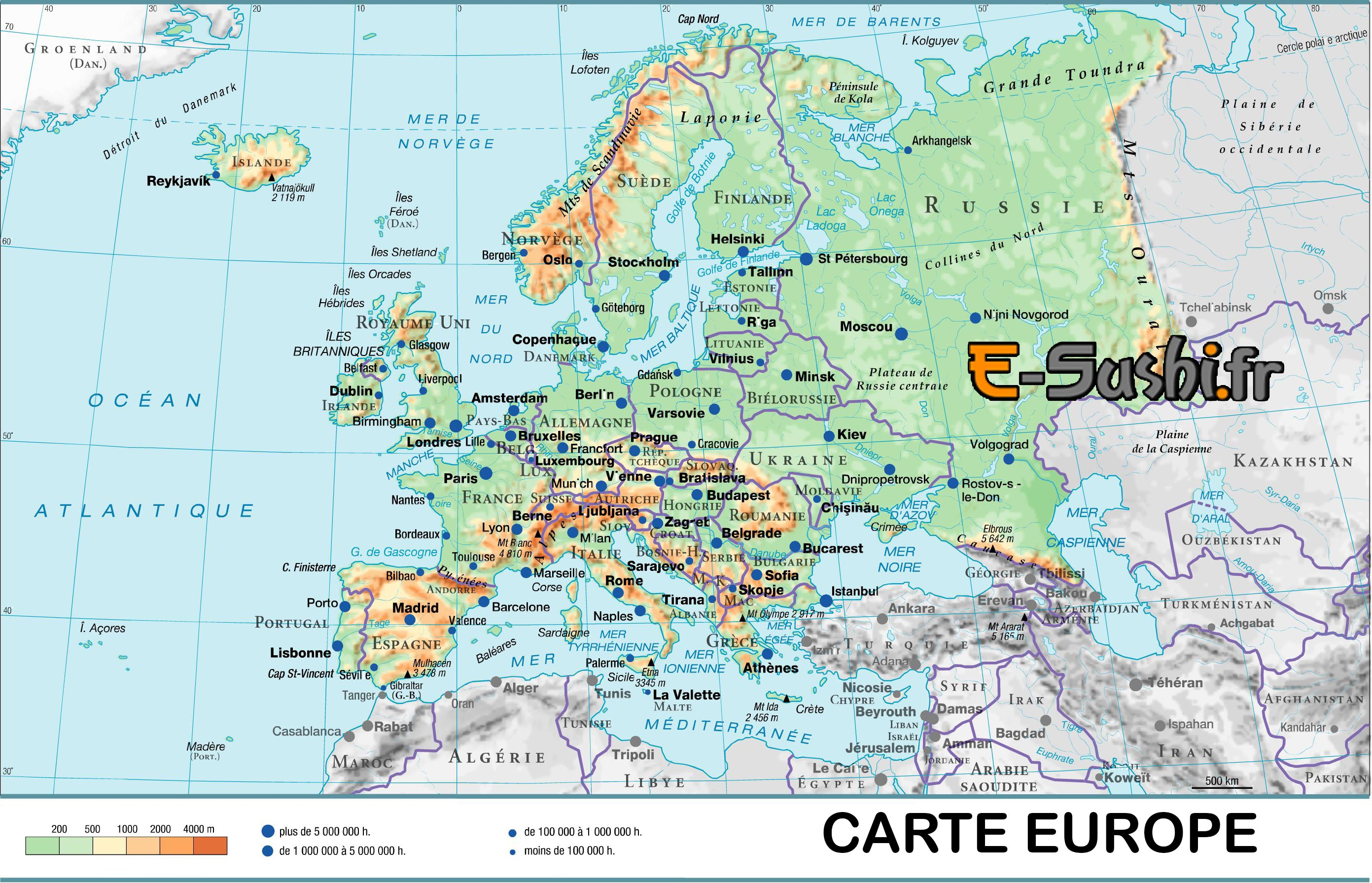 Archives Des Europe Carte Des Capitales - Arts Et Voyages intérieur Carte Europe Capitale