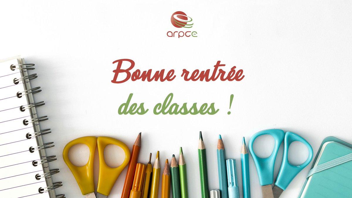 """Arpce On Twitter: """"bonne Rentrée Des Classes À Toutes Et À intérieur Image Bonne Rentrée Des Classes"""
