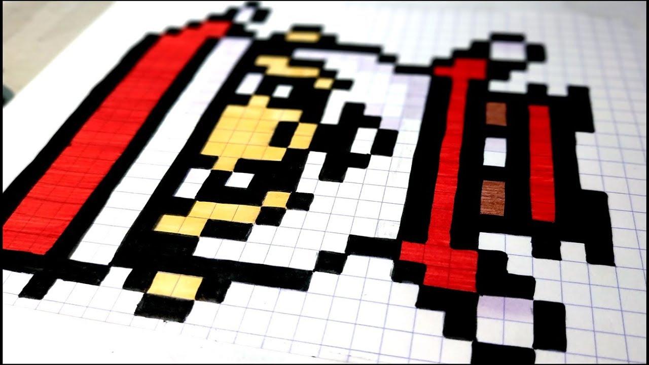 #art 🔴 Comment Dessiner Un Pere Noel En Pixel Art #asmr #pixelart pour Pixel Art Pere Noel