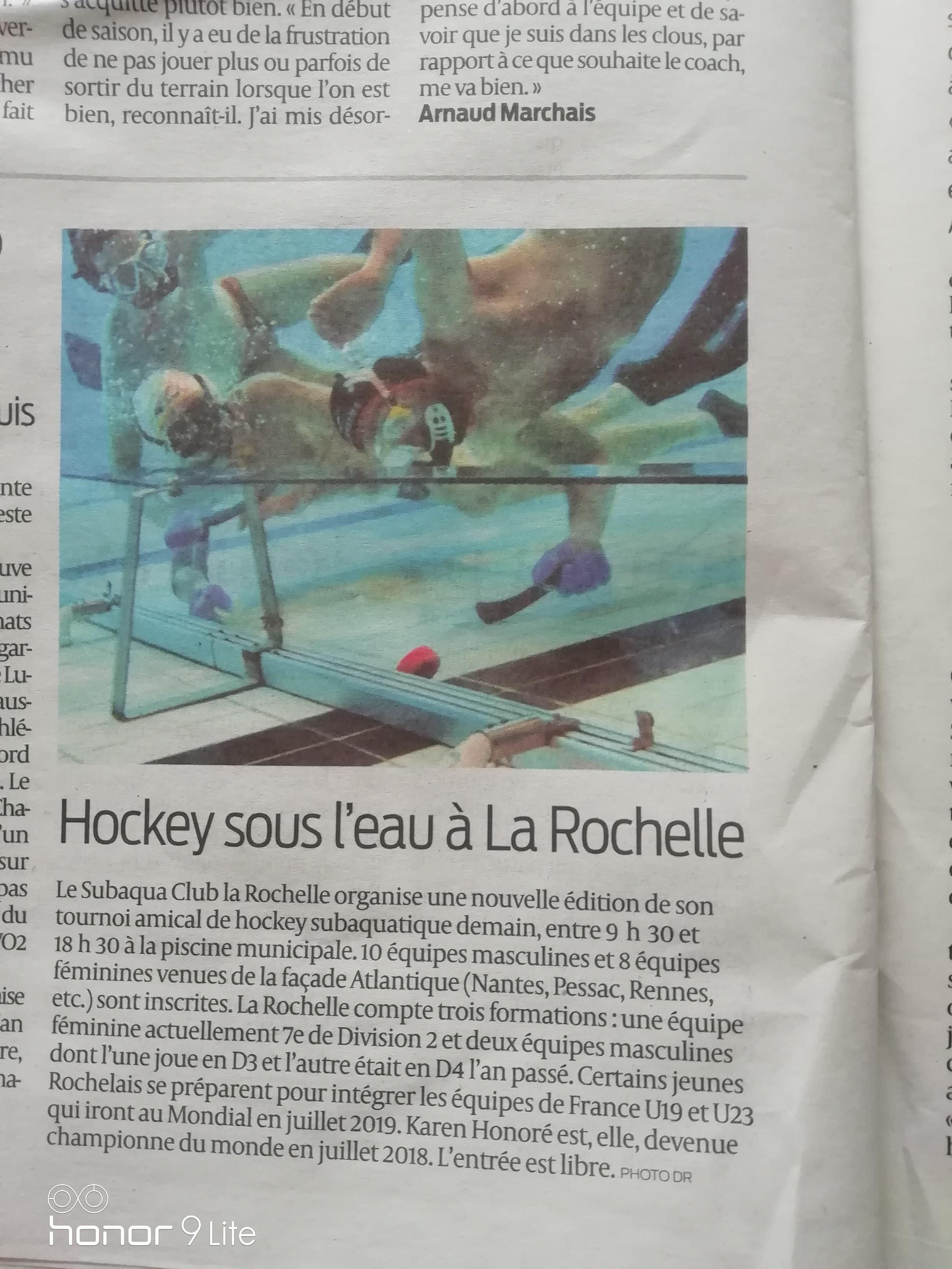 Article Annonce Tournoi D'automne 9 Novembre 2018 Sud Ouest destiné On Va Sortir La Rochelle