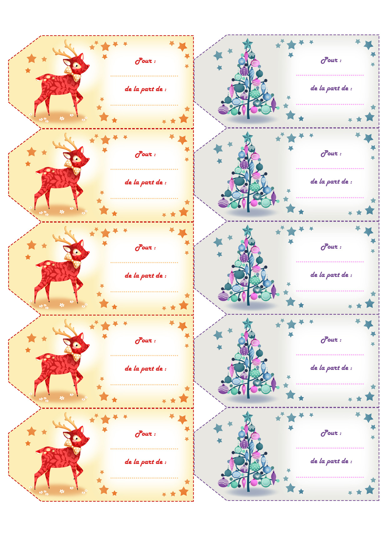 Astuce*° Des Étiquettes Pour Vos Cadeaux De Noël À Imprimer avec Etiquette Noel A Imprimer