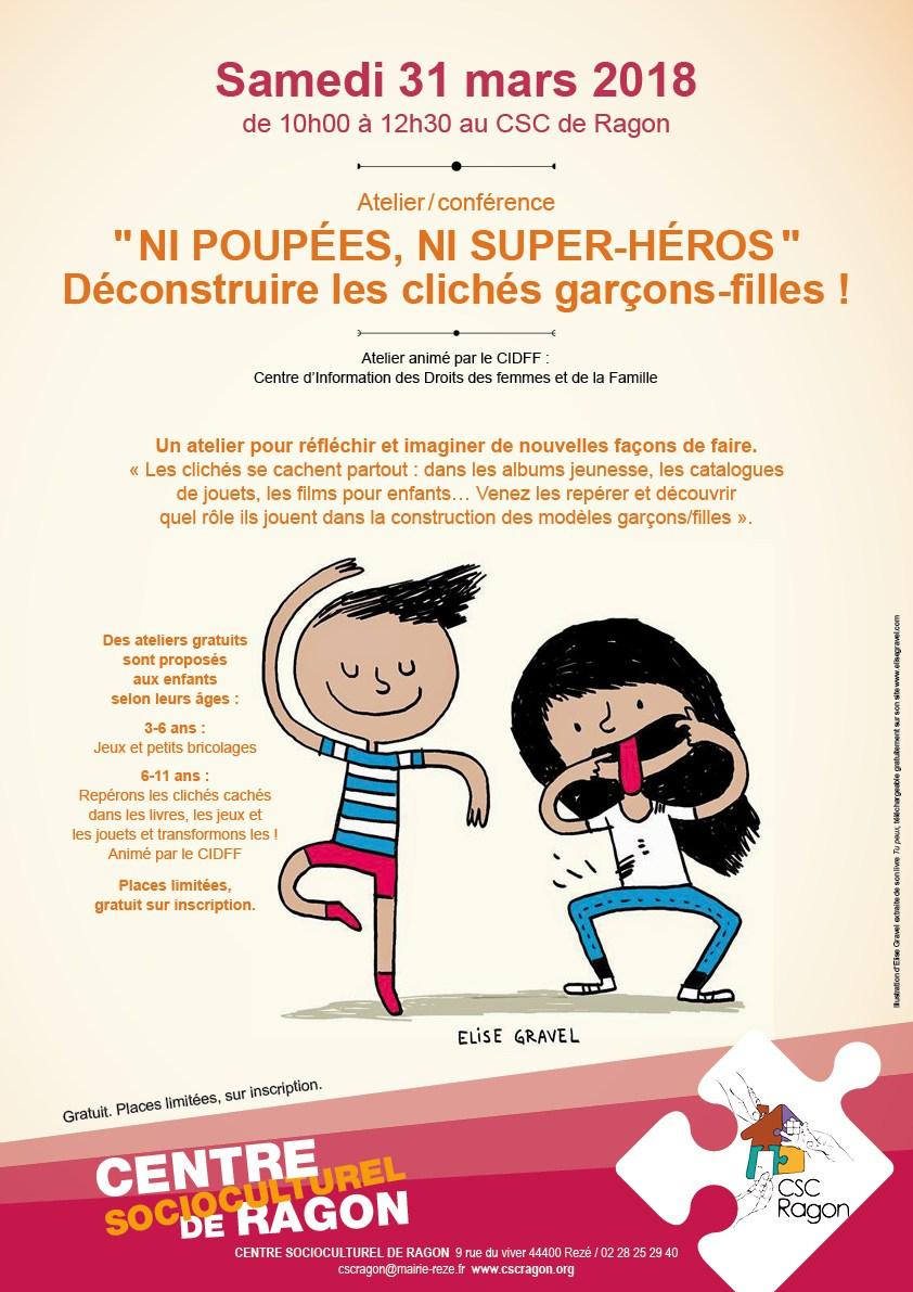 """Atelier-Conférence """"ni Poupée, Ni Super-Héros"""" - Cidff Loire serapportantà Jeux De Fille De 11 Ans Gratuit"""