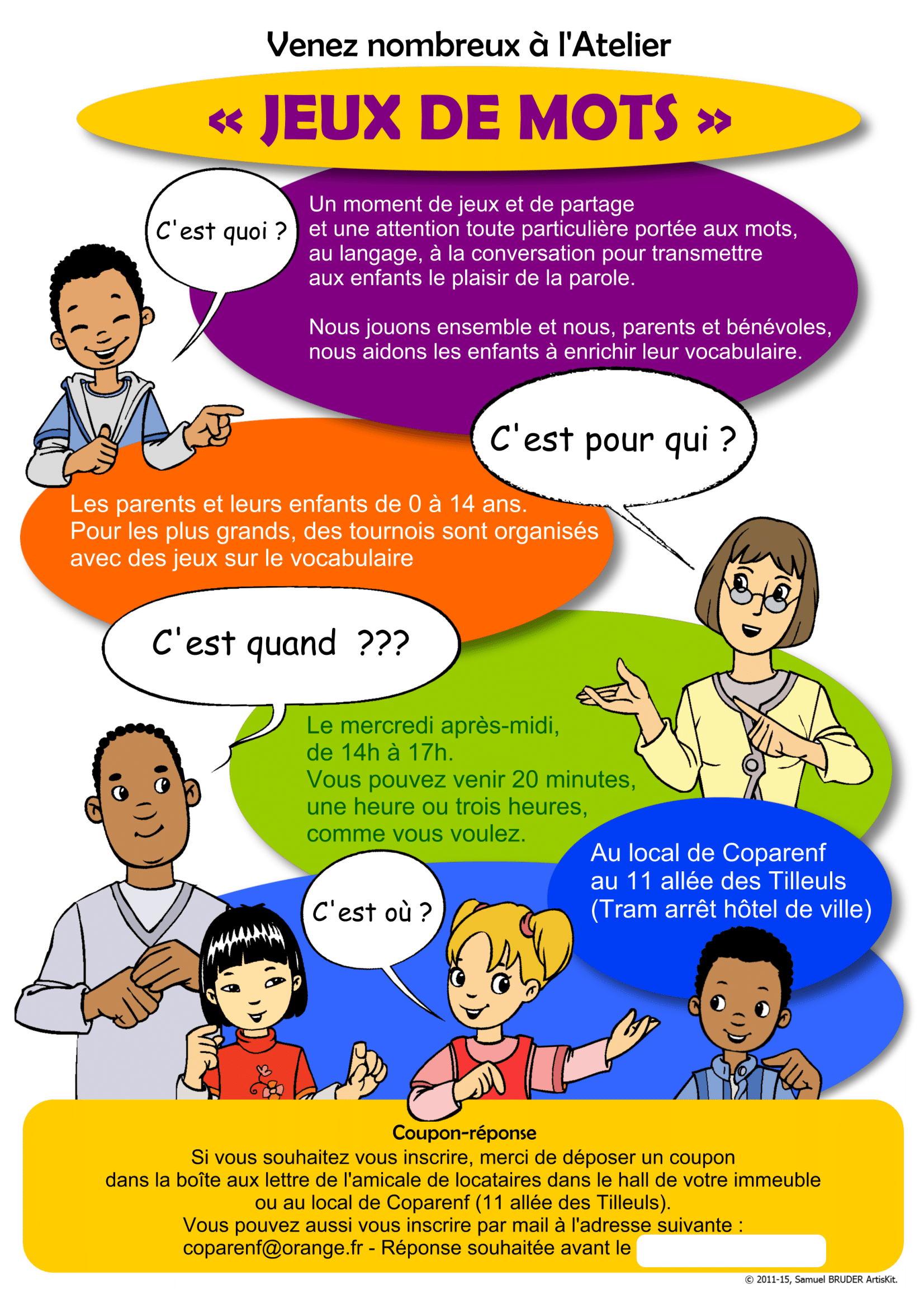 Atelier Jeux De Mots - Coparenf serapportantà Jeux De Mots Pour Enfants