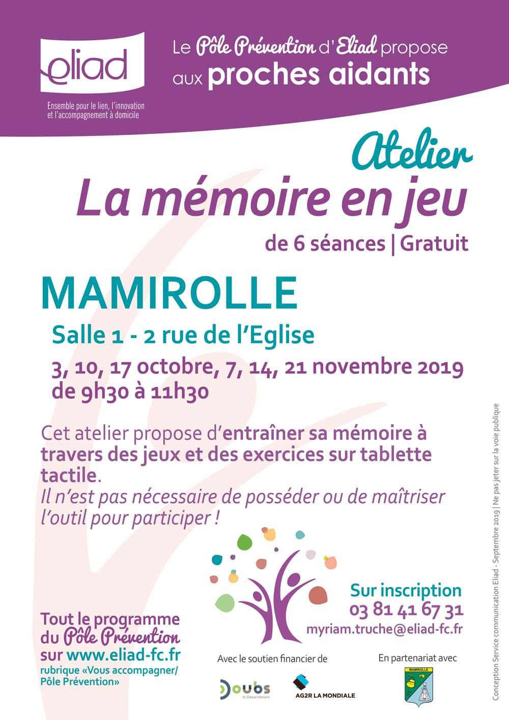 """Atelier """"la Mémoire En Jeu"""" - La Journée Nationale Des Aidants tout Jeu De Memoire Gratuit"""