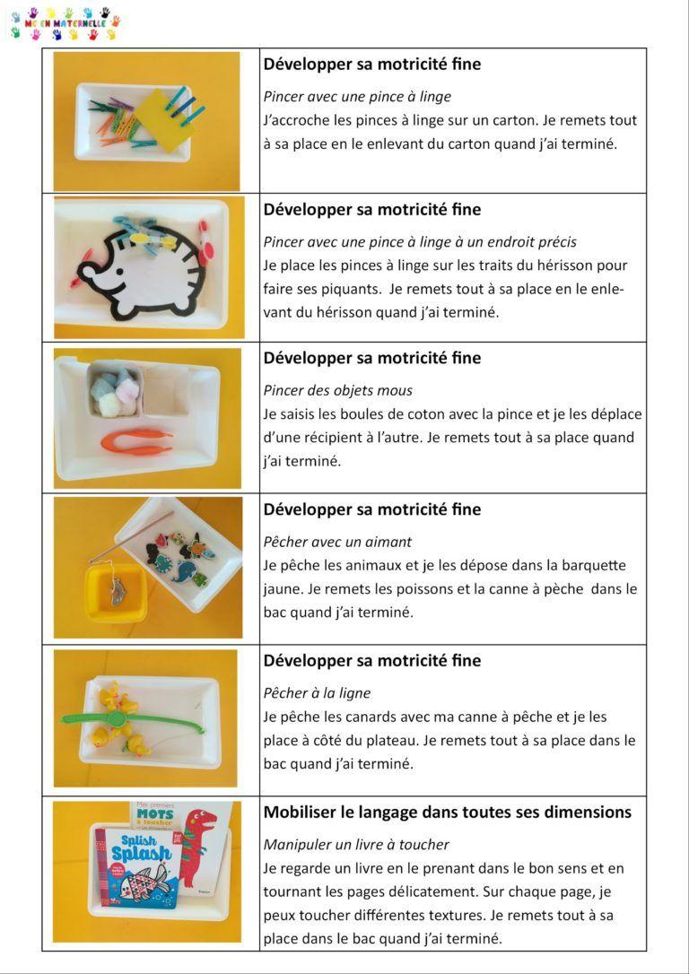 Ateliers Autonomes Période 1 Pour Les Petites Sections (Ps concernant Atelier Autonome Grande Section