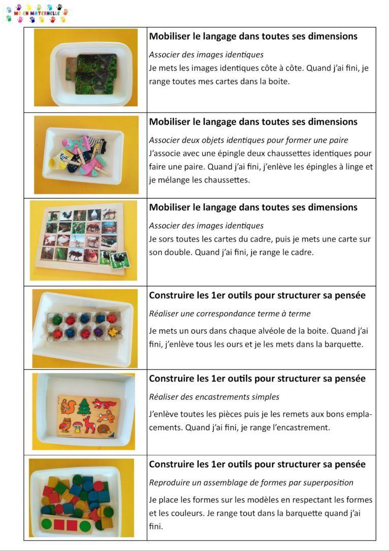Ateliers Autonomes Période 1 Pour Les Petites Sections (Ps serapportantà Atelier Autonome Grande Section
