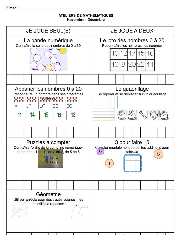 Ateliers De Mathematiques - Ppt Télécharger dedans Les Nombres De 0 À 20