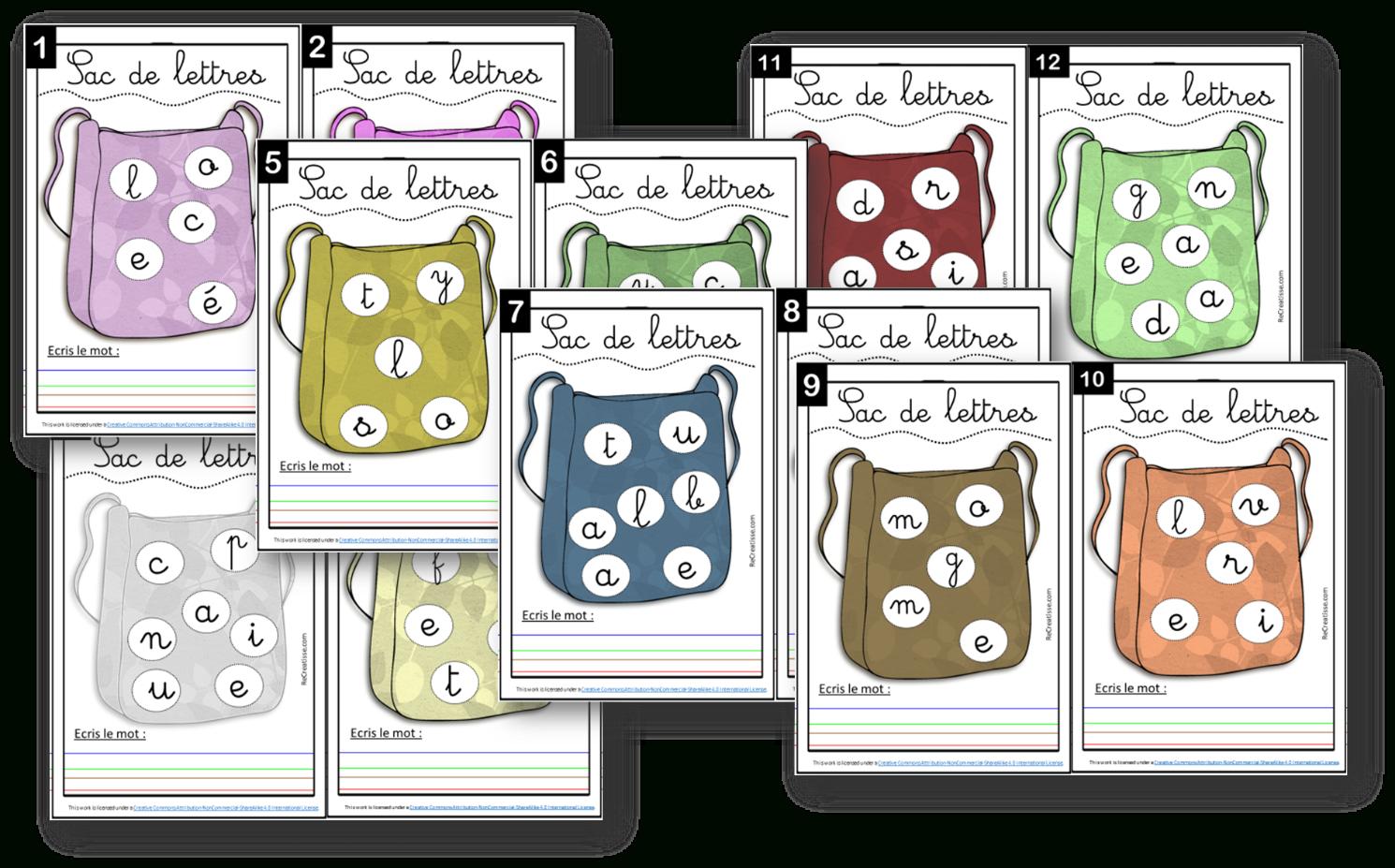 Ateliers : Jeux Avec Les Lettres • Recreatisse pour Atelier Autonome Grande Section