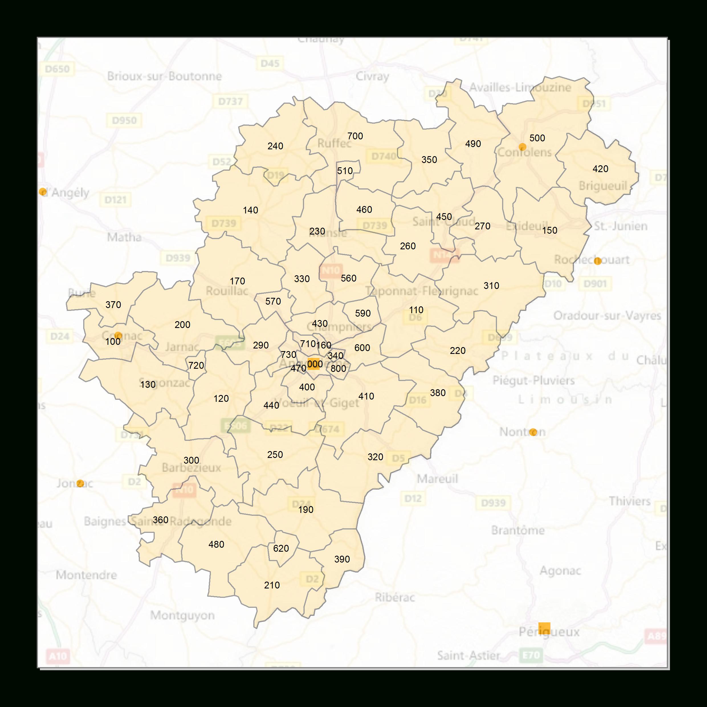 Atlas Des Codes Postaux - Cartes Des Départements De France intérieur Carte Numero Departement