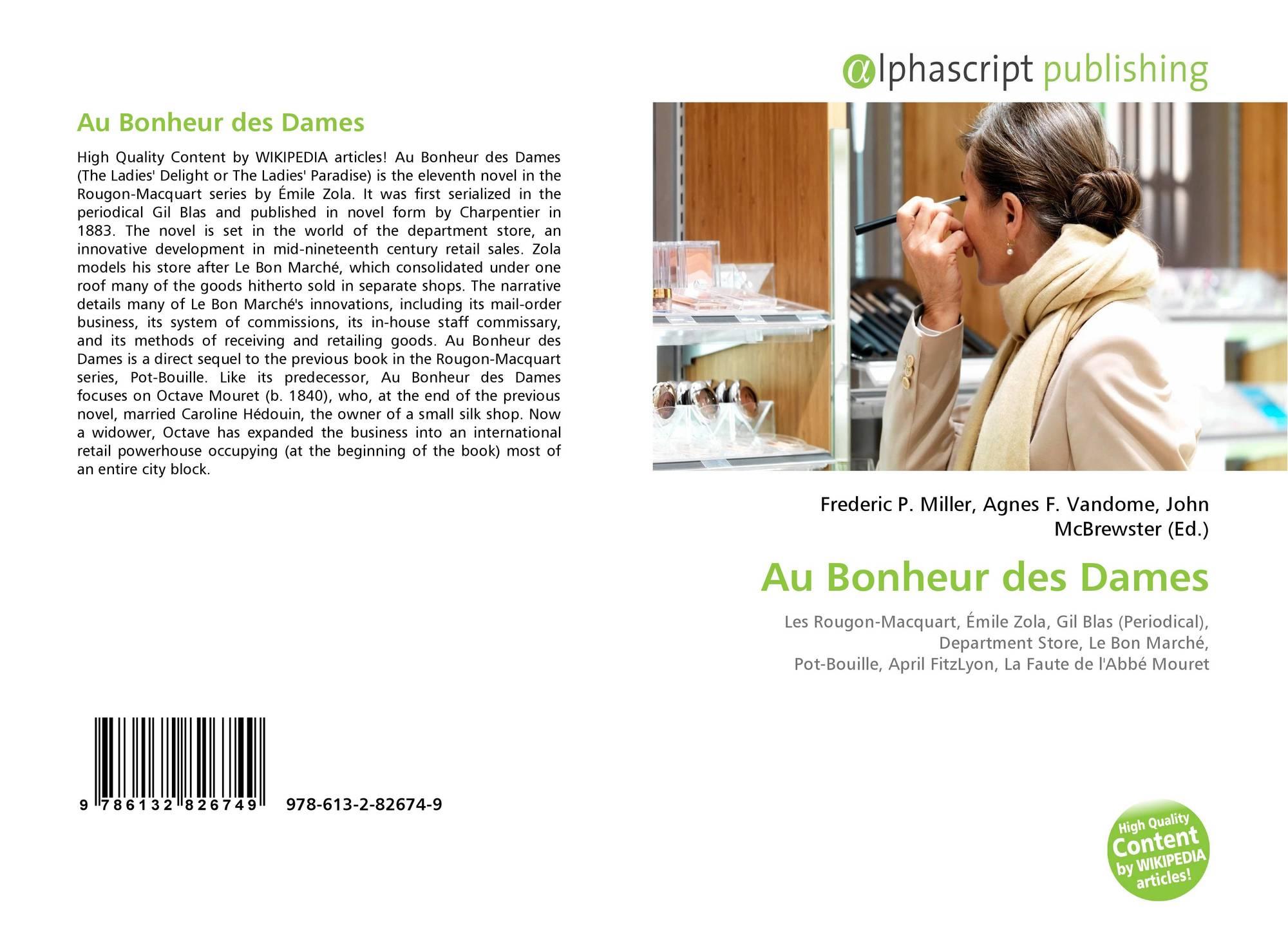 Au Bonheur Des Dames, 978-613-2-82674-9, 6132826742 encequiconcerne Bon The Bonheur