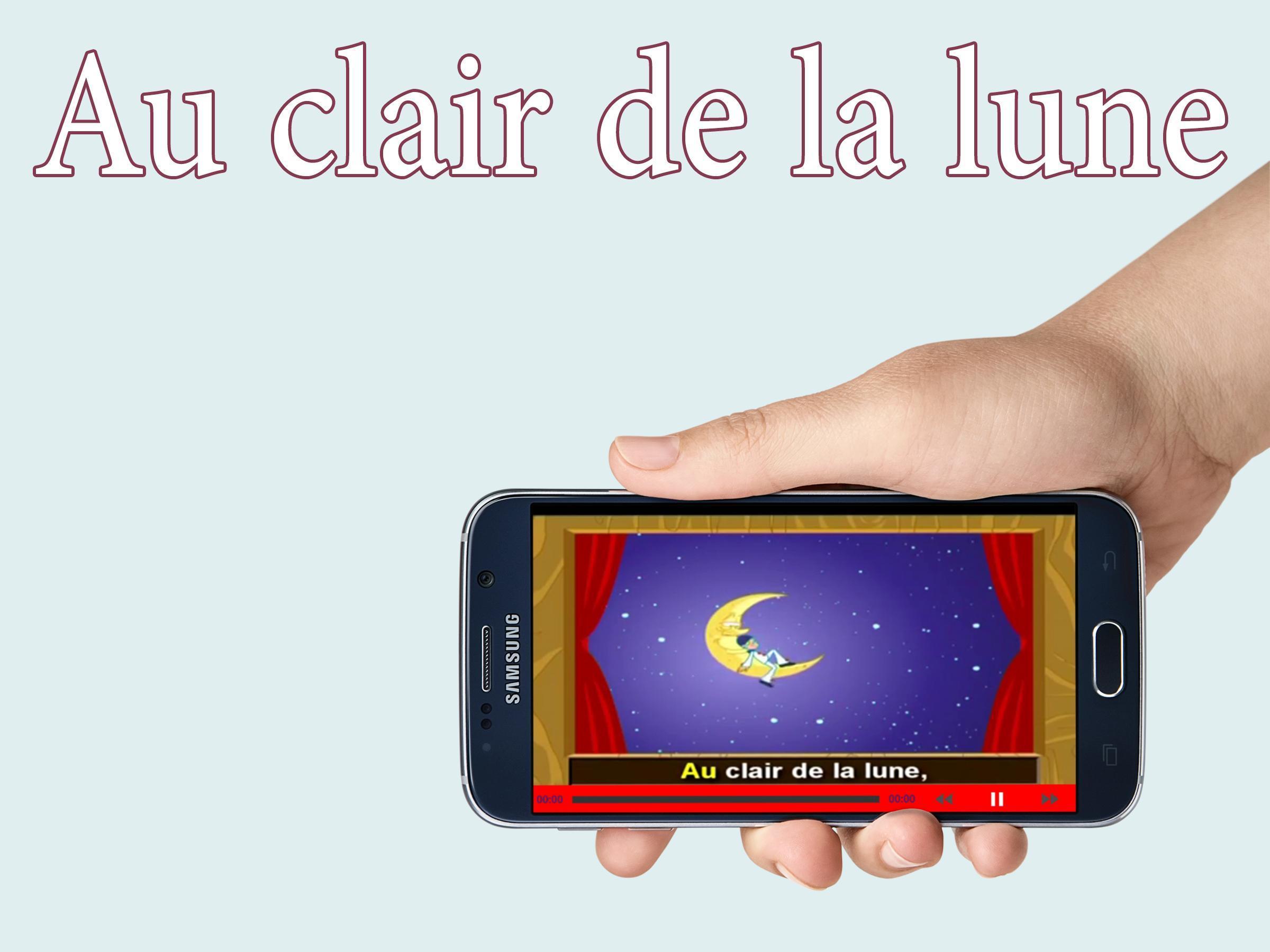 Au Clair De La Lune أغنية Für Android - Apk Herunterladen serapportantà Clair De La Lune Lyrics