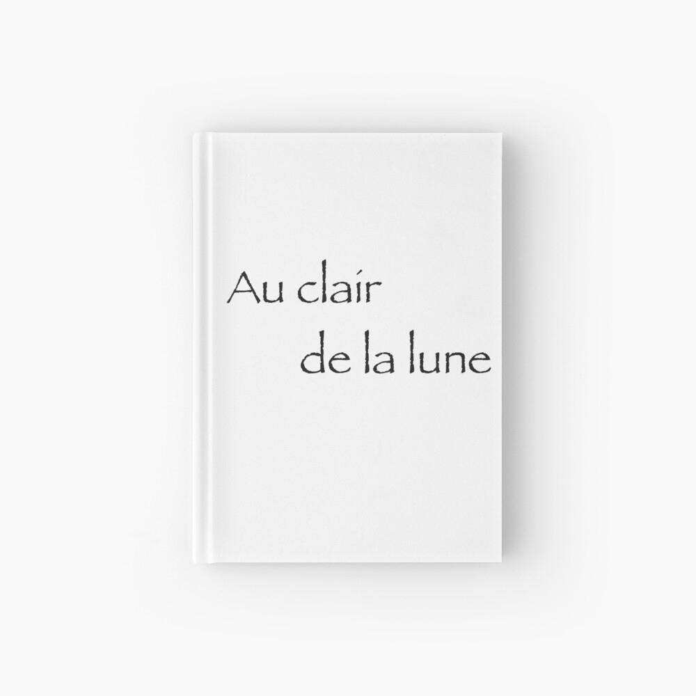Au Clair De La Lune | Hardcover Journal concernant Clair De La Lune Lyrics