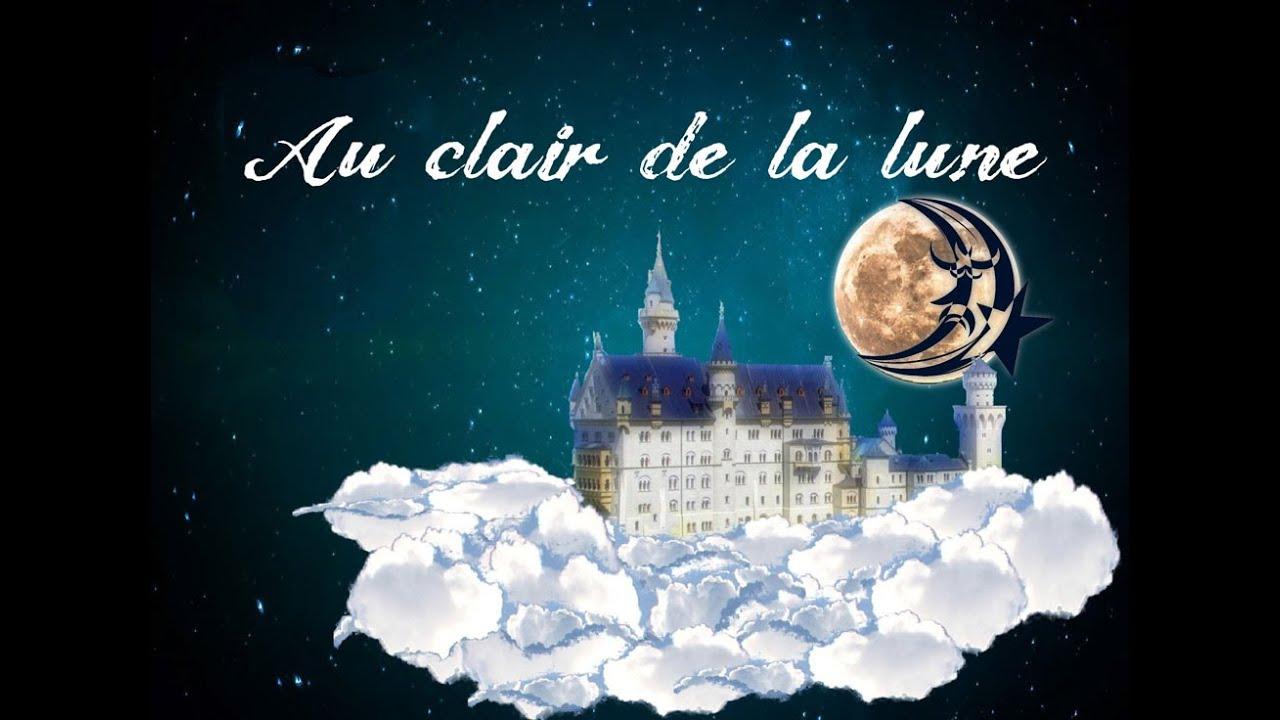 Au Clair De La Lune (Instrumental - Lyrics Video For Karaoke) encequiconcerne Clair De La Lune Lyrics