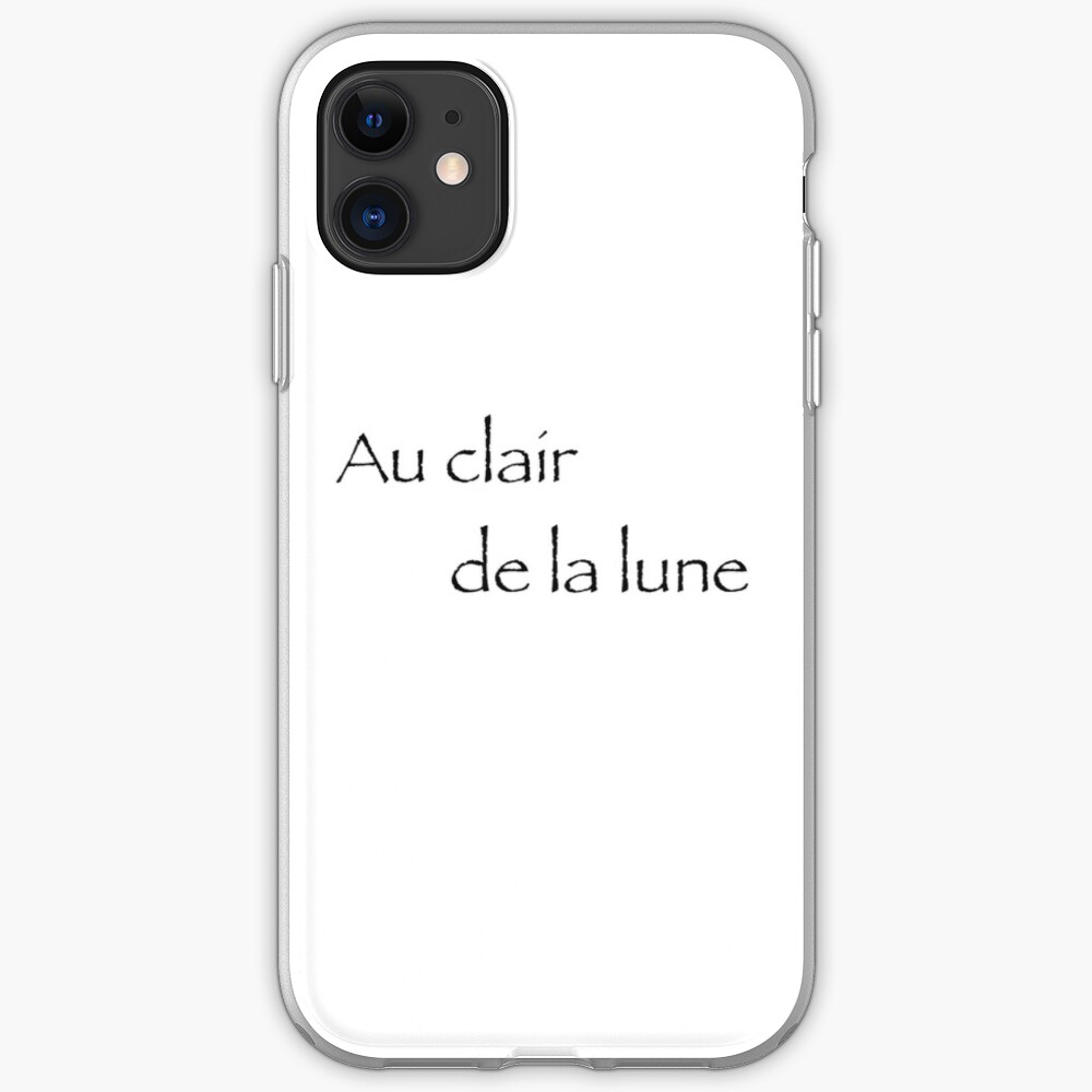Au Clair De La Lune | Iphone Case & Cover serapportantà Clair De La Lune Lyrics