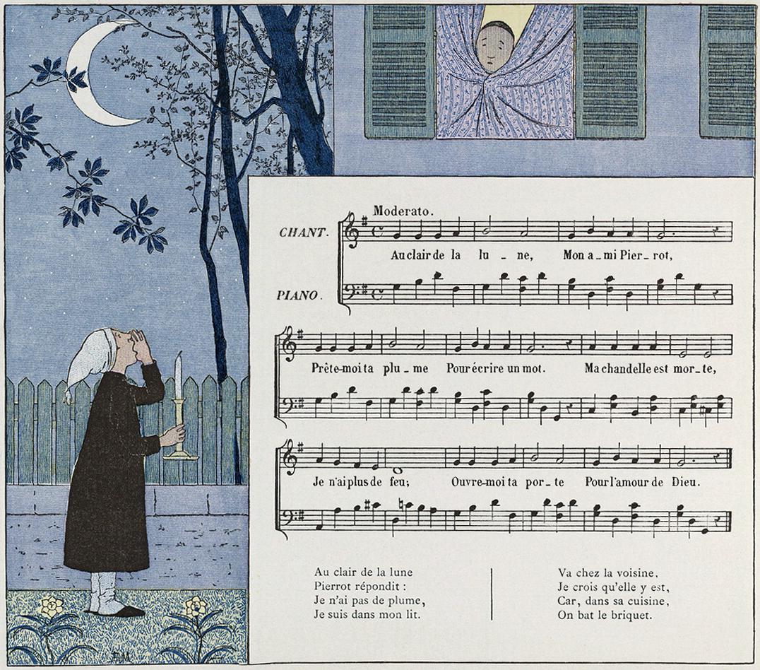 Au Clair De La Lune – Wikipedia concernant Clair De La Lune Lyrics