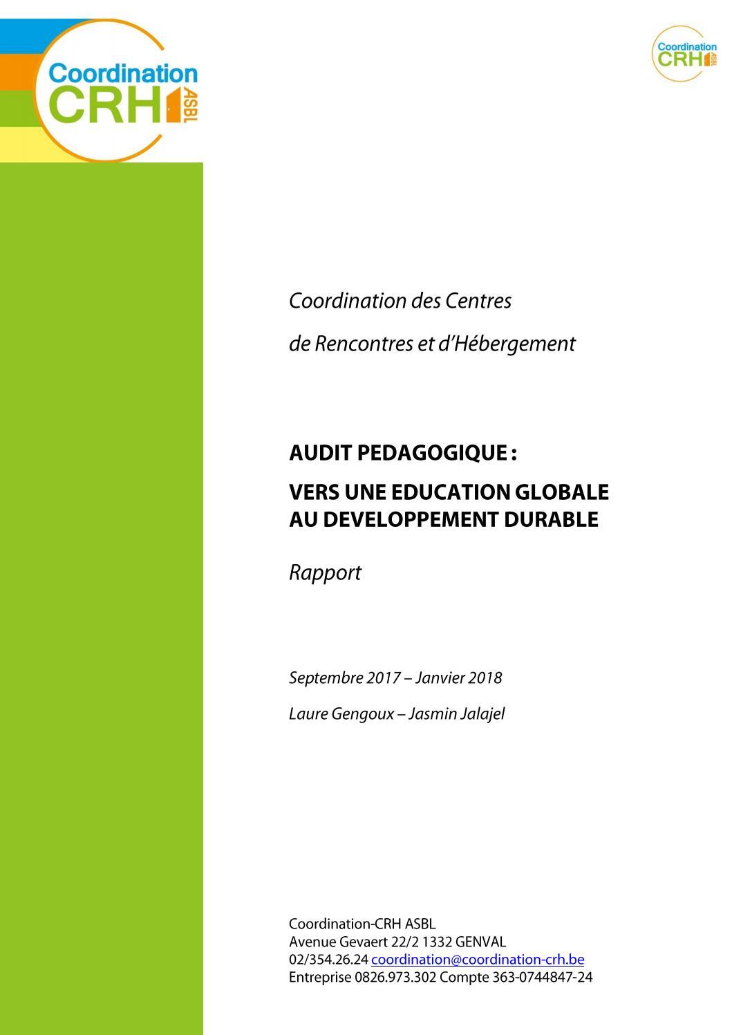 Audit Pédagogique : Vers Une Éducation Globale Au serapportantà Fiche Pédagogique Les 5 Sens