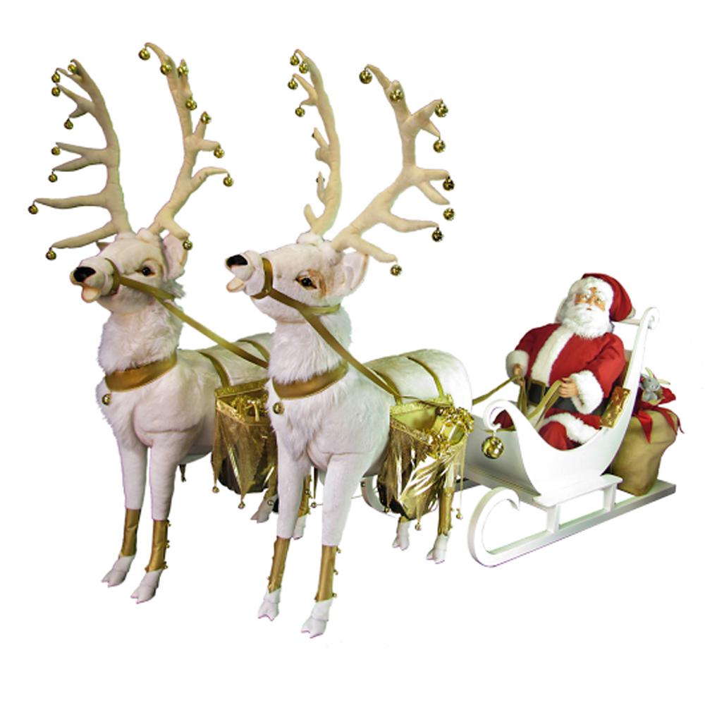 Automate Père Noël Avec Son Traineau - Libdeco pour Image Du Pere Noel Et Son Traineau