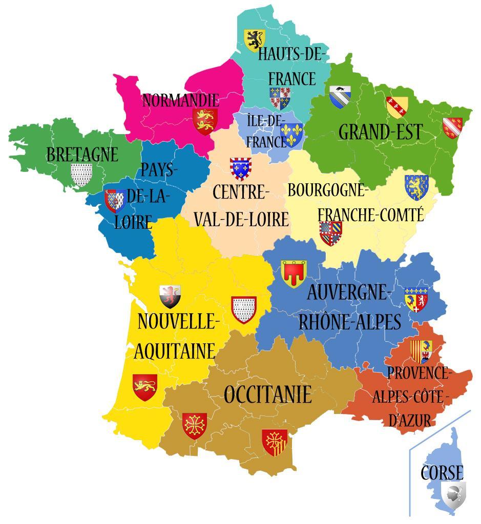 Avant/apres. Découvrez Les 13 Noms Des Nouvelles Régions De avec Nouvelle Carte Des Régions De France