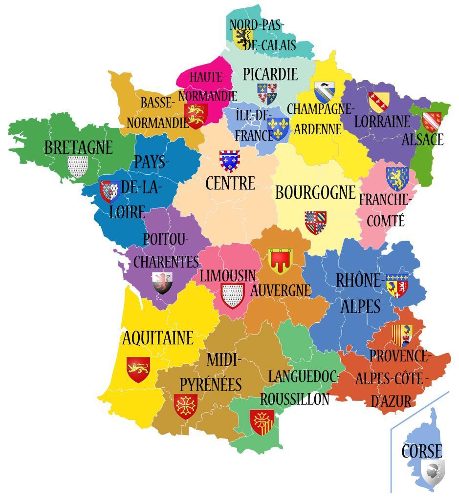 Avant/apres. Découvrez Les 13 Noms Des Nouvelles Régions De intérieur Nouvelle Region France