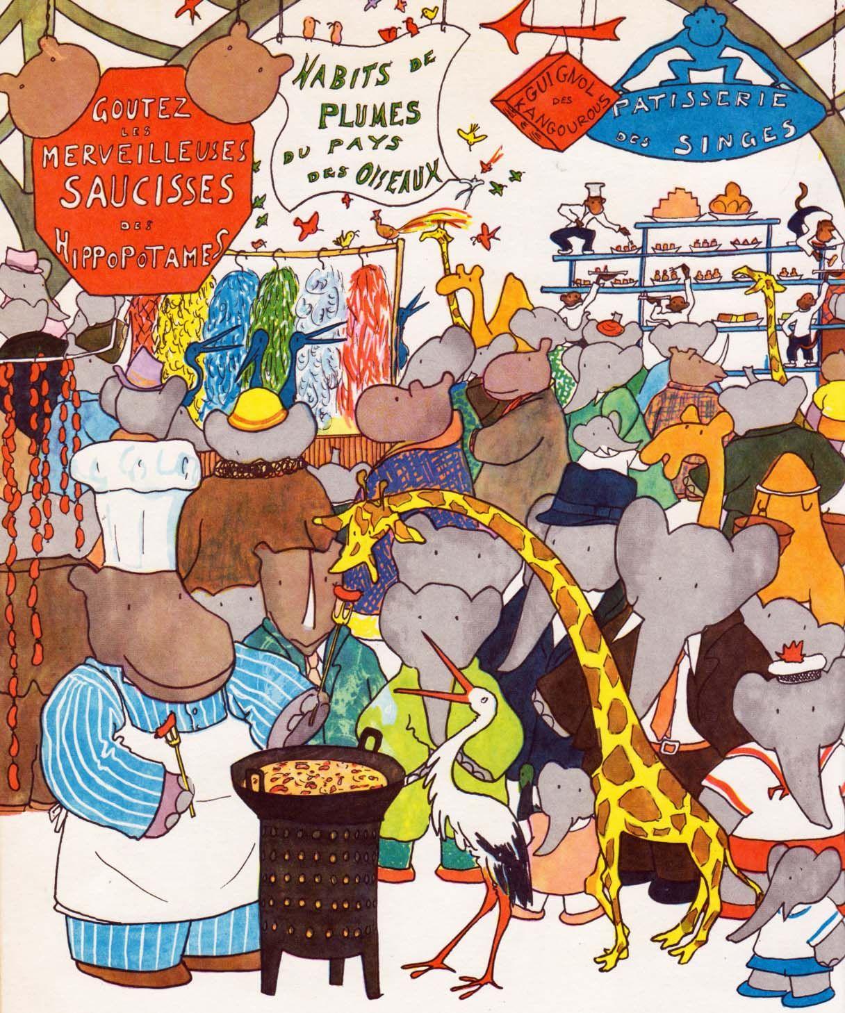 Babar's Fair By Jean De Brunhoff, An Enjoyable Babar Series destiné Singe De Babar