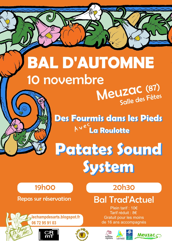 Bal D'automne Avec Patates Sound System - Crmt En Limousin avec Chanson De La Patate